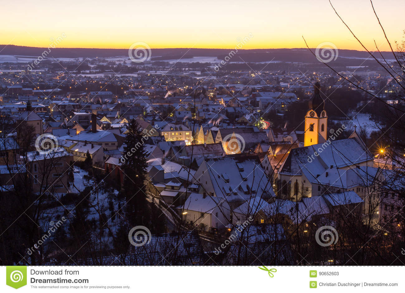Schwandorf在冬天