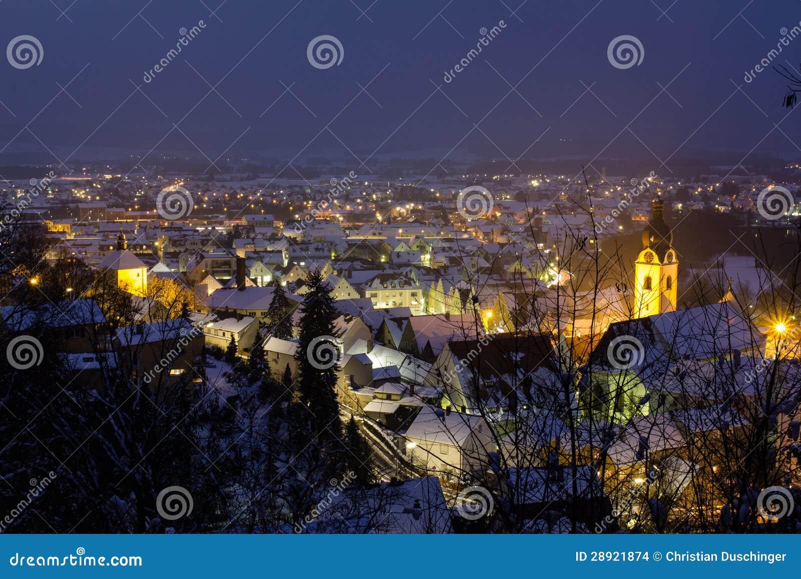 Schwandorf at night