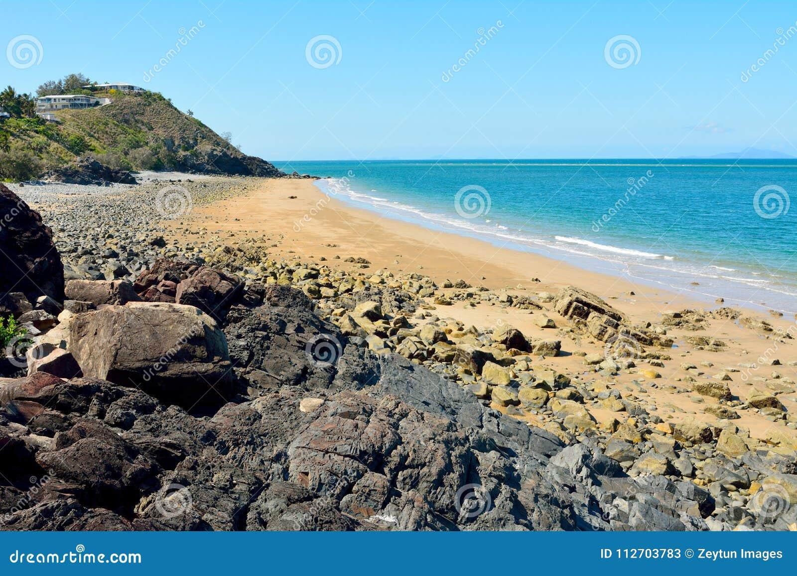 Schwarz-Strand in Mackay, Australien