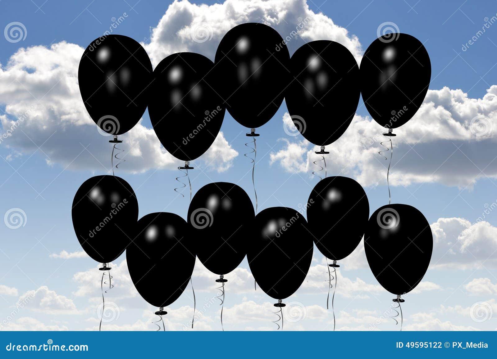 Schwarze baloons