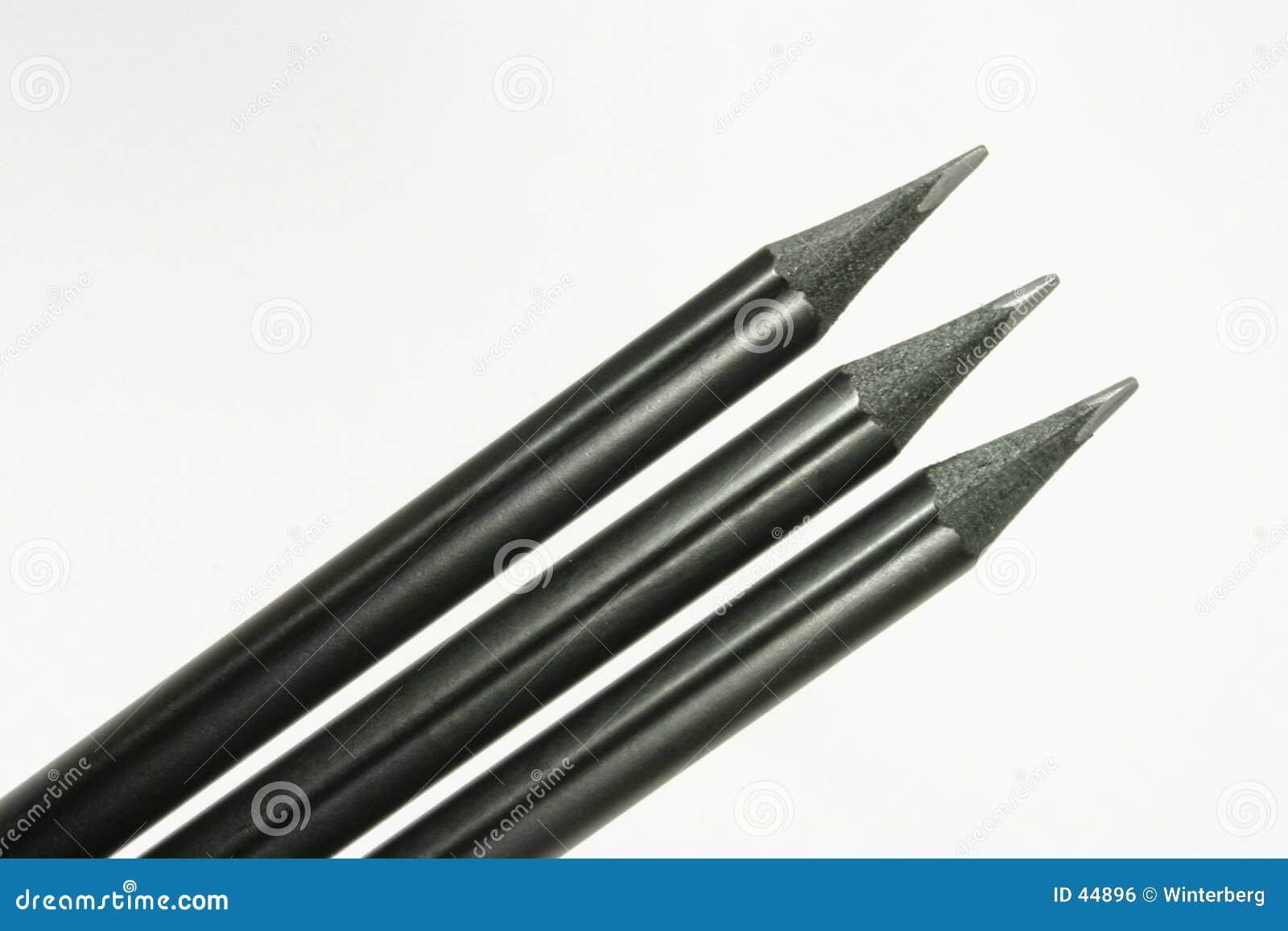 Schwarze Bleistifte