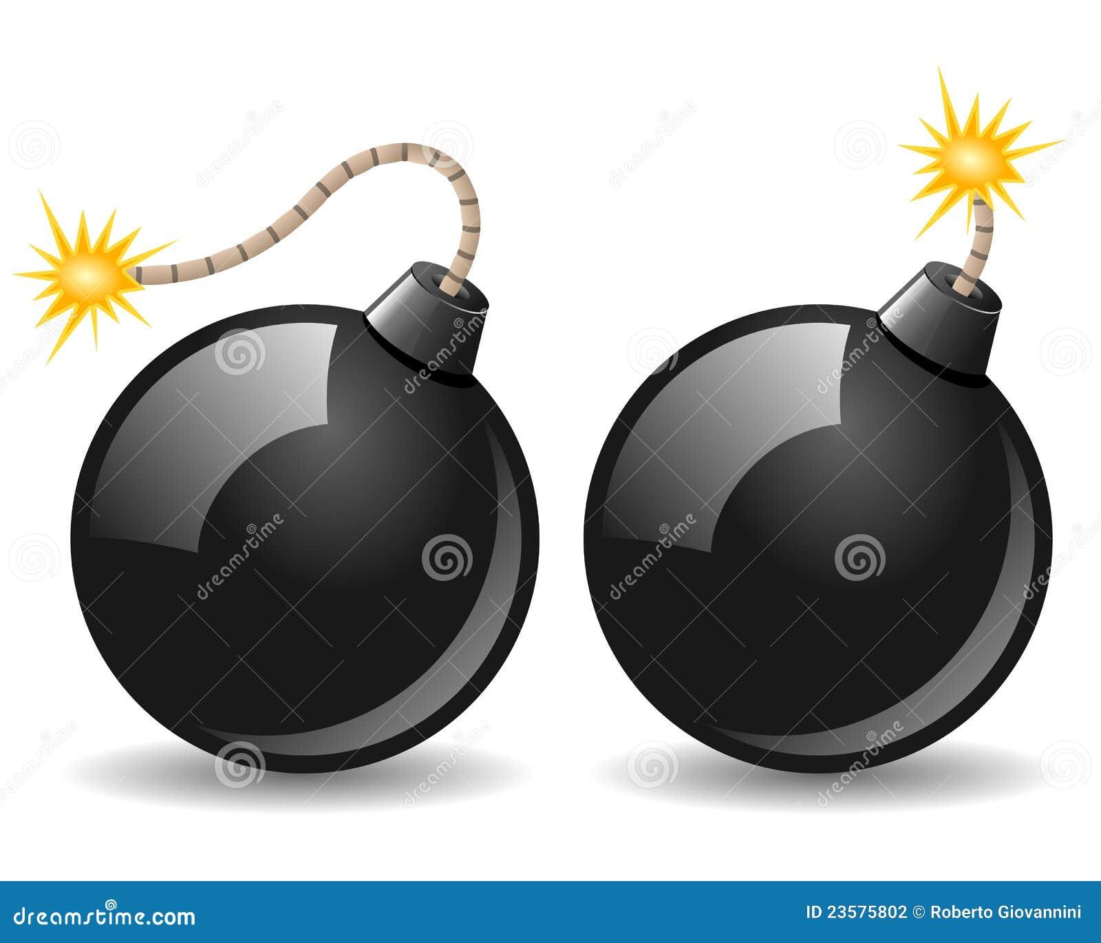 Schwarze Bomben-Ikone