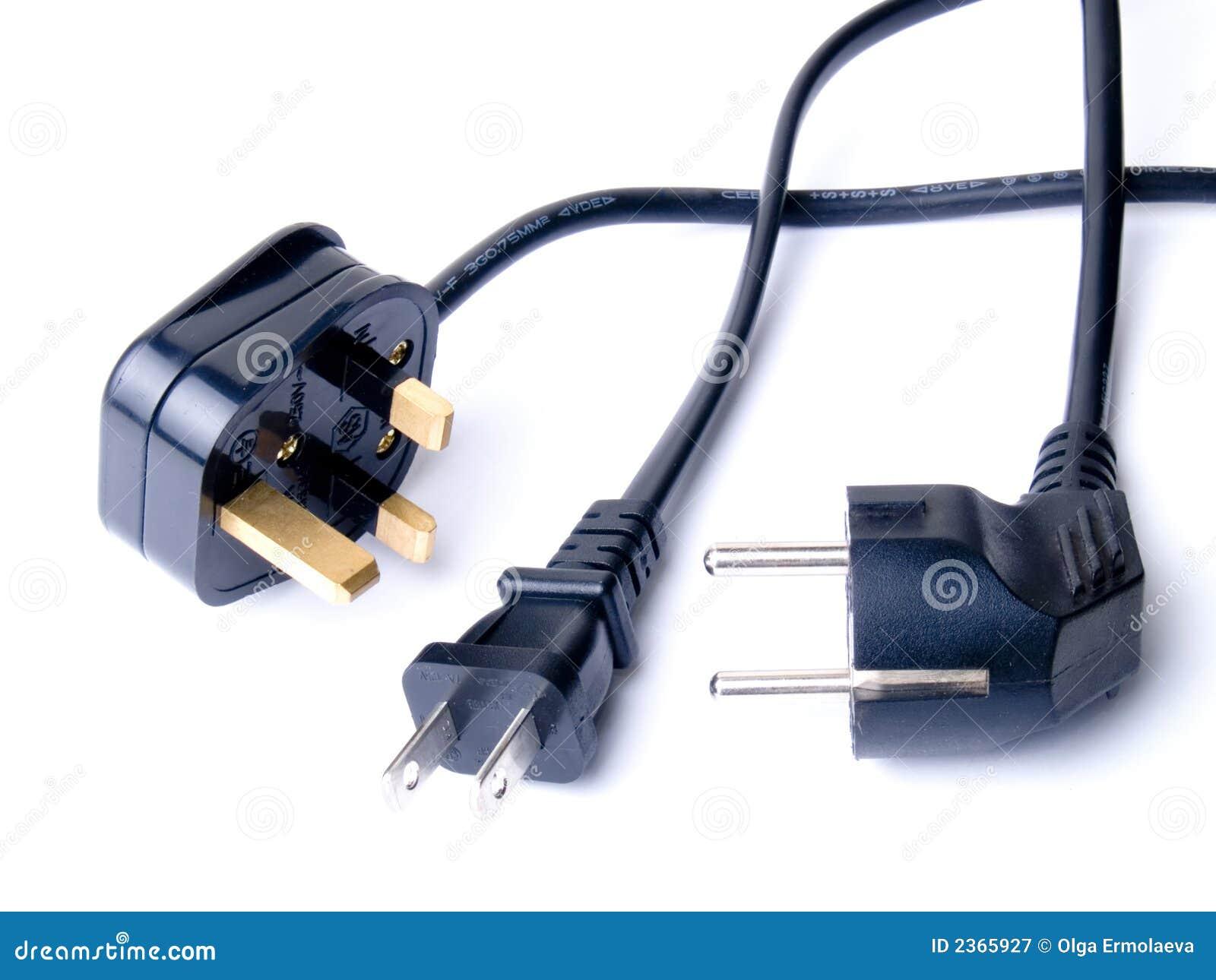 Schwarze elektrische Netzkabel