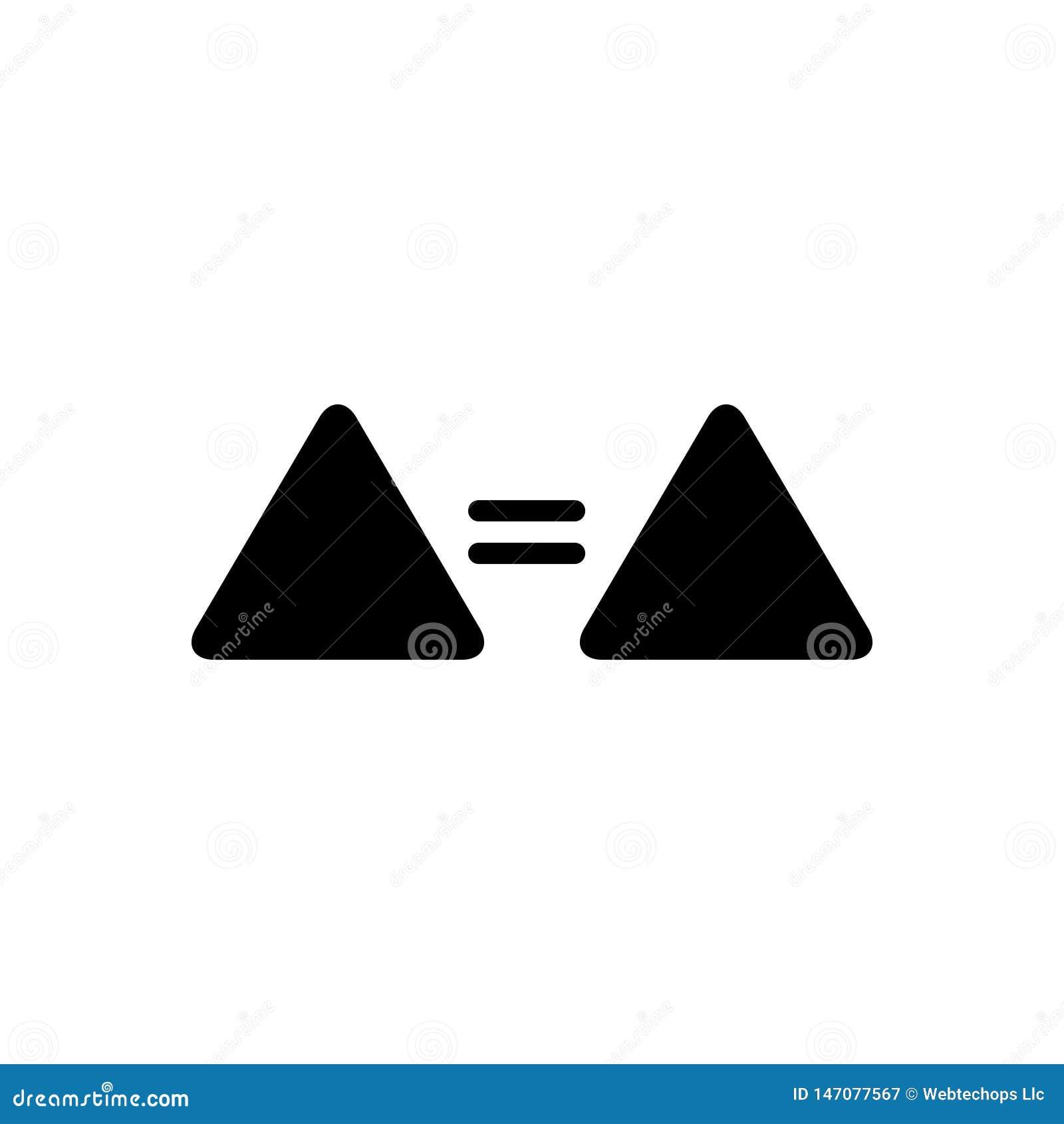 Schwarze feste Ikone für Gleichgestelltes, Zeichen und selben