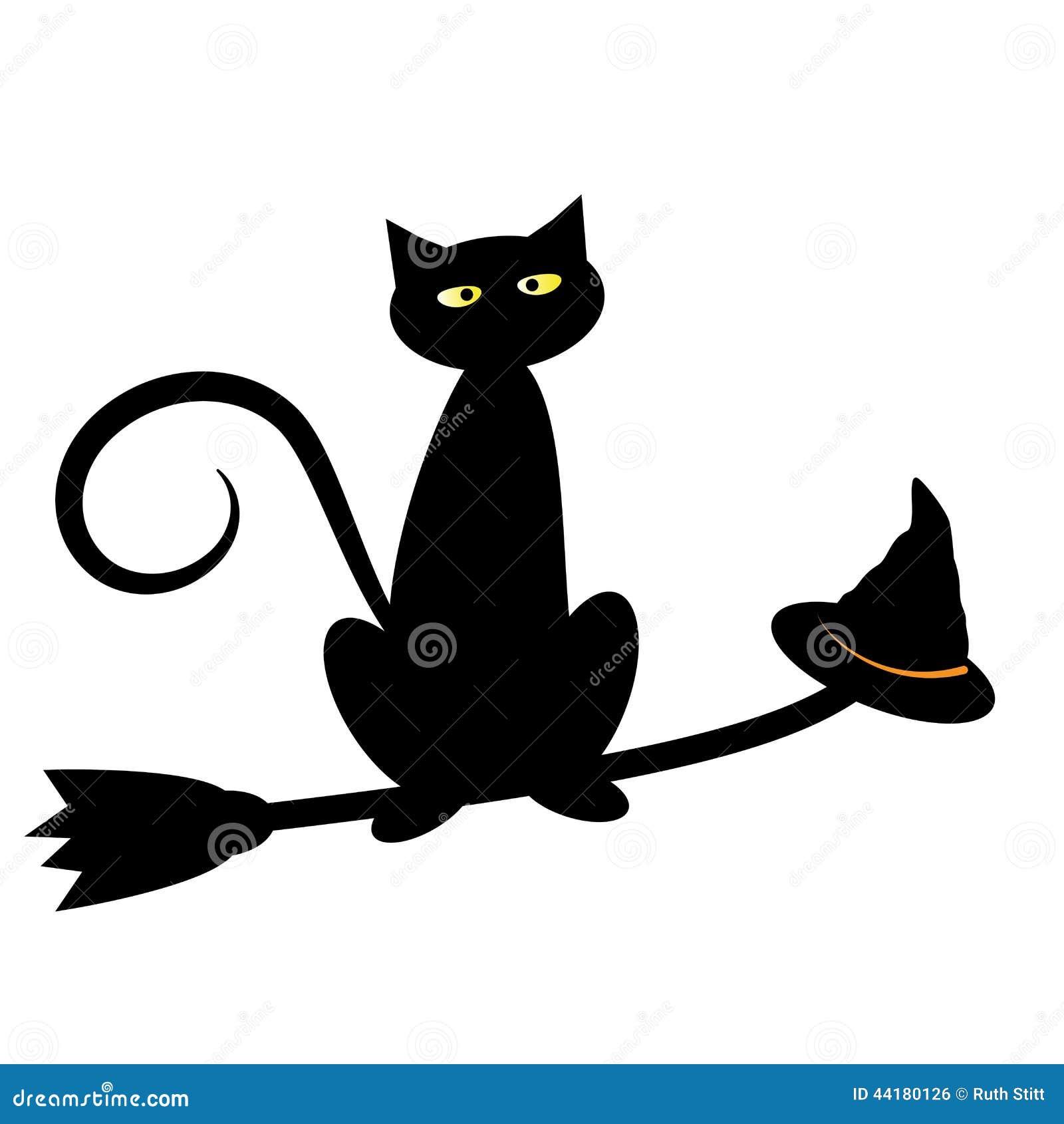 schwarze halloween katze vektor abbildung illustration von katze 44180126. Black Bedroom Furniture Sets. Home Design Ideas
