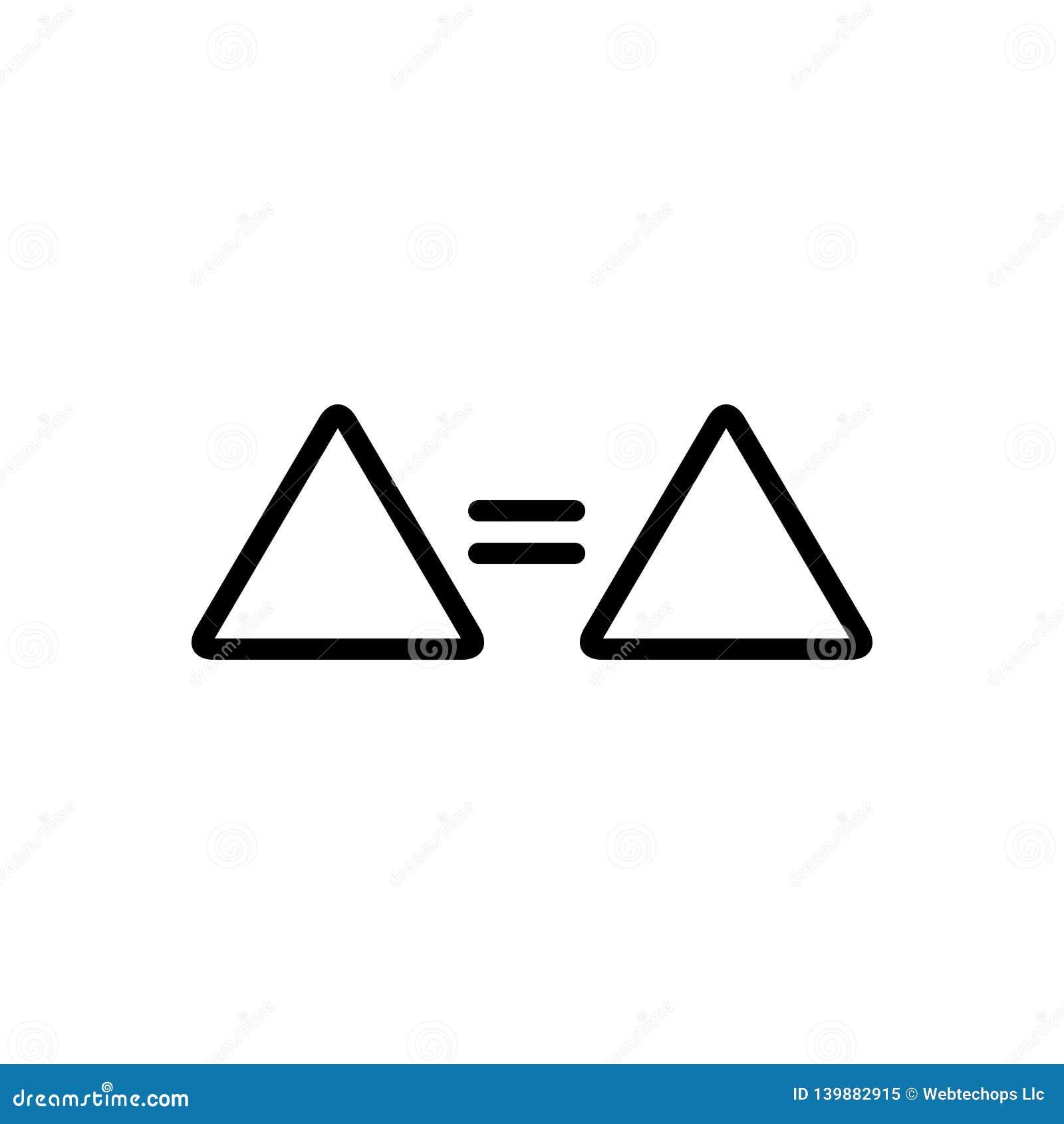Schwarze Linie Ikone für Gleichgestelltes, Zeichen und selben