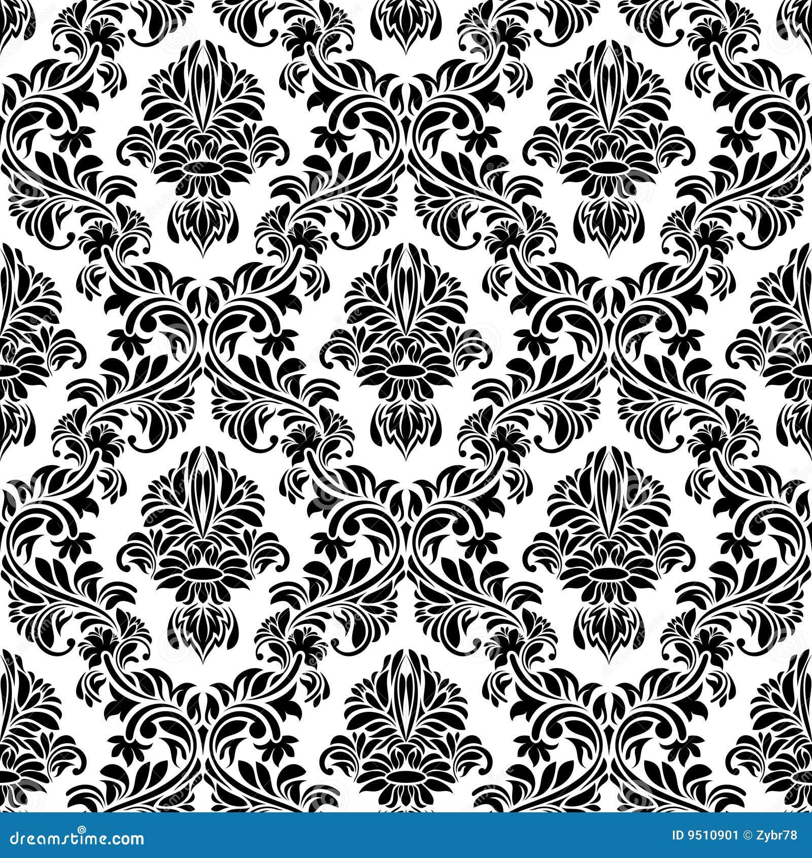 Schwarze nahtlose tapete vektor abbildung illustration for Schwarze tapete
