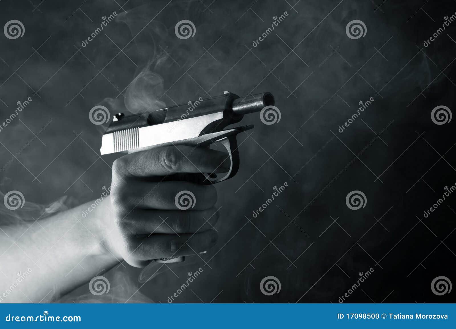 Schwarze Pistole