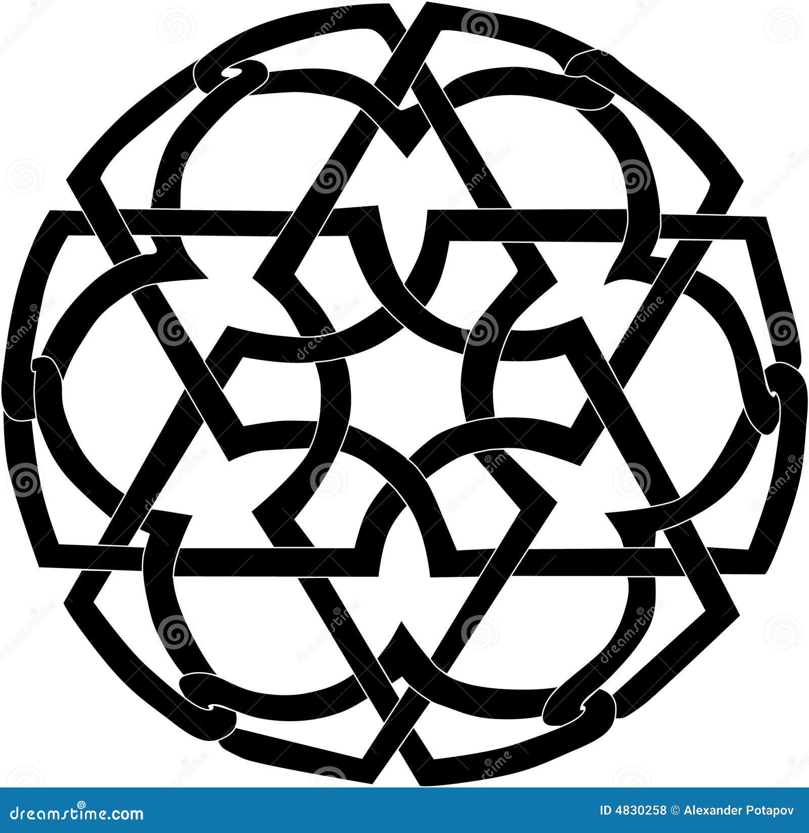 Schwarze runde Dekoration