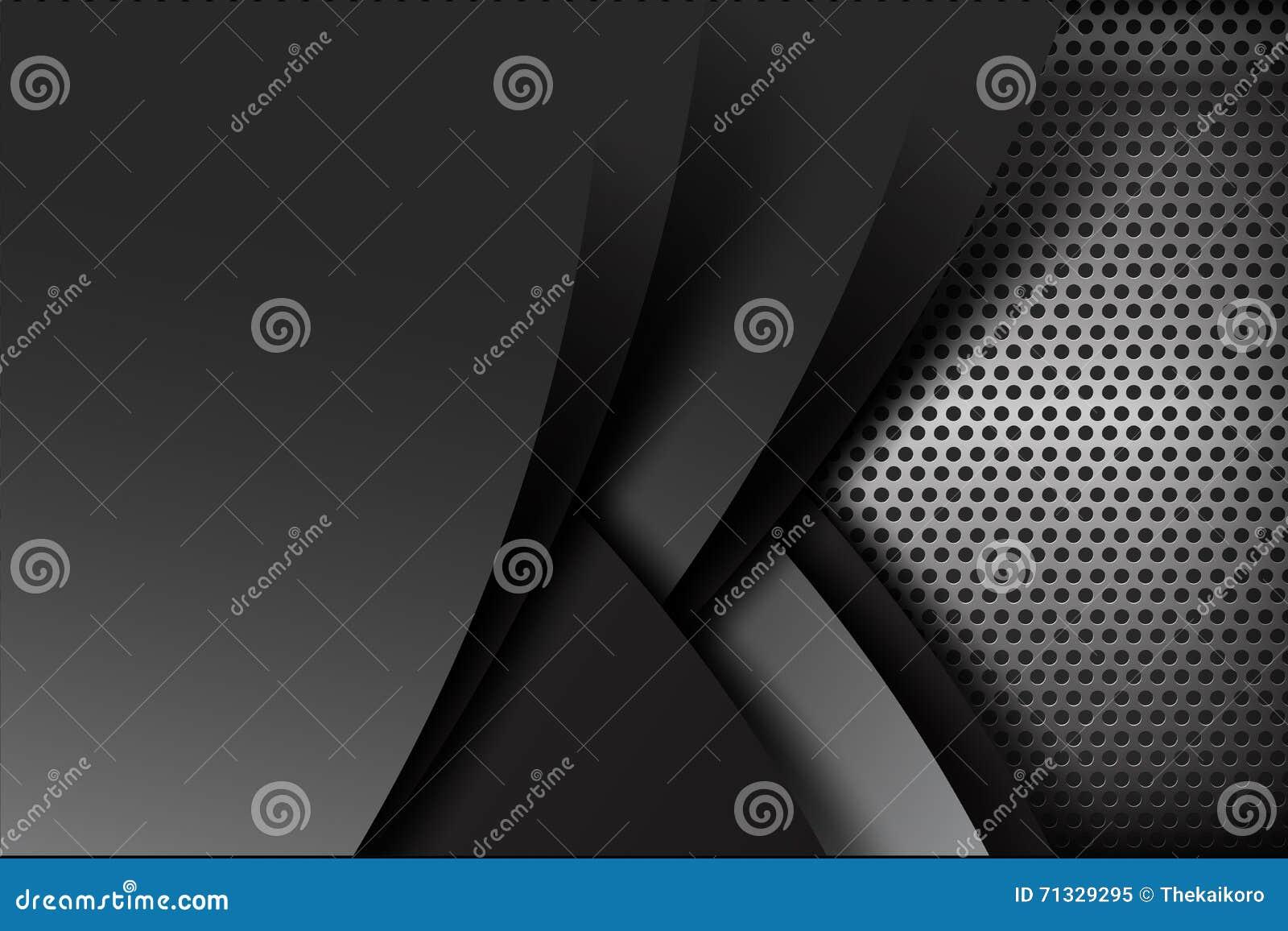 Schwarze und graue Schichtelement-Hintergrundbeschaffenheit des dunklen Chroms