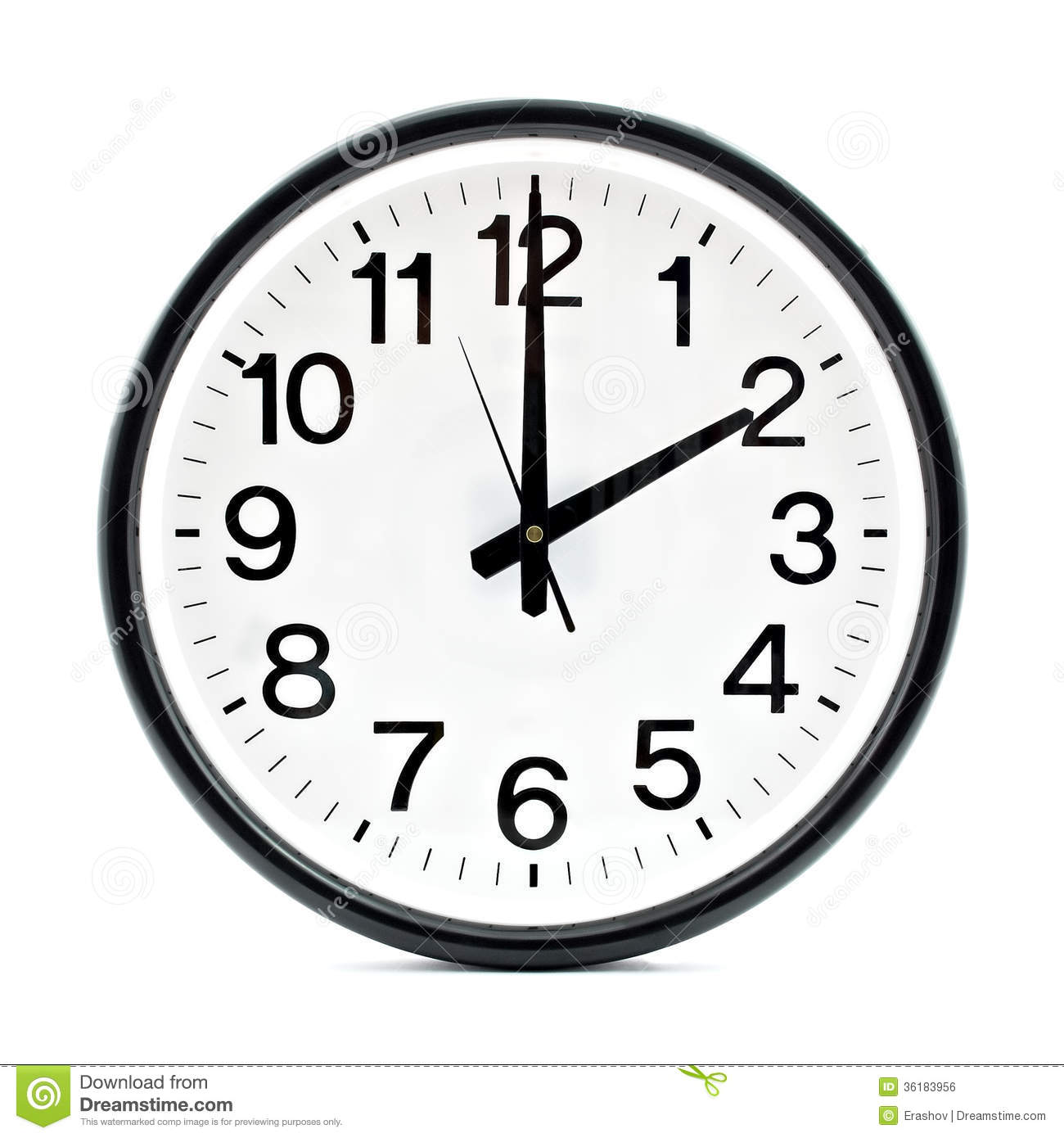 schwarze wanduhr stockfoto bild von stunde wand wei 36183956. Black Bedroom Furniture Sets. Home Design Ideas