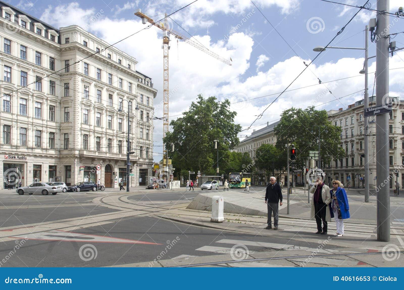 Schwarzenbergplatz Wien Redaktionelles Stockfoto Bild Von Weinlese