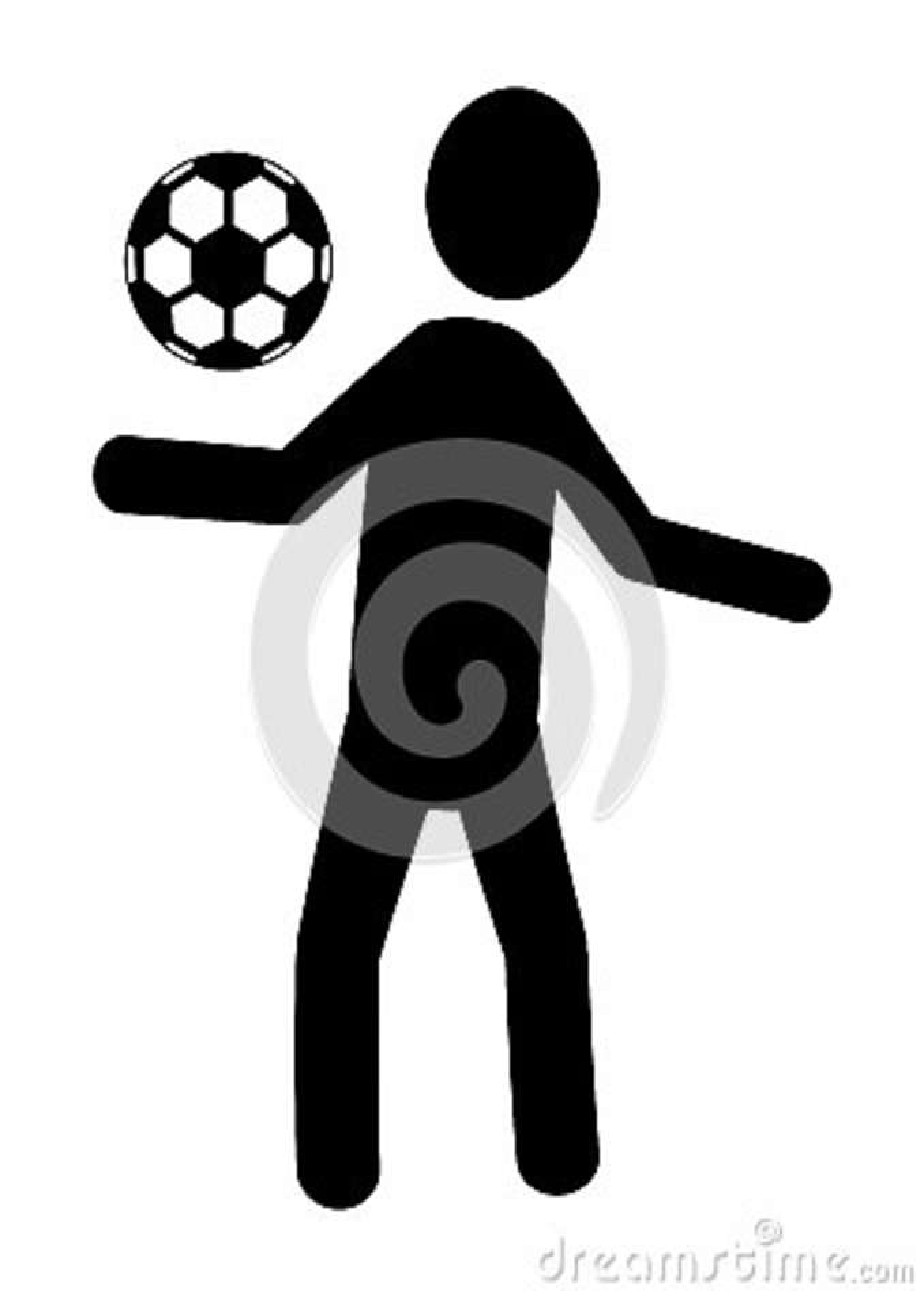 Schwarzer Avataramann Der Mit Fussball Grafik Spielt Stock