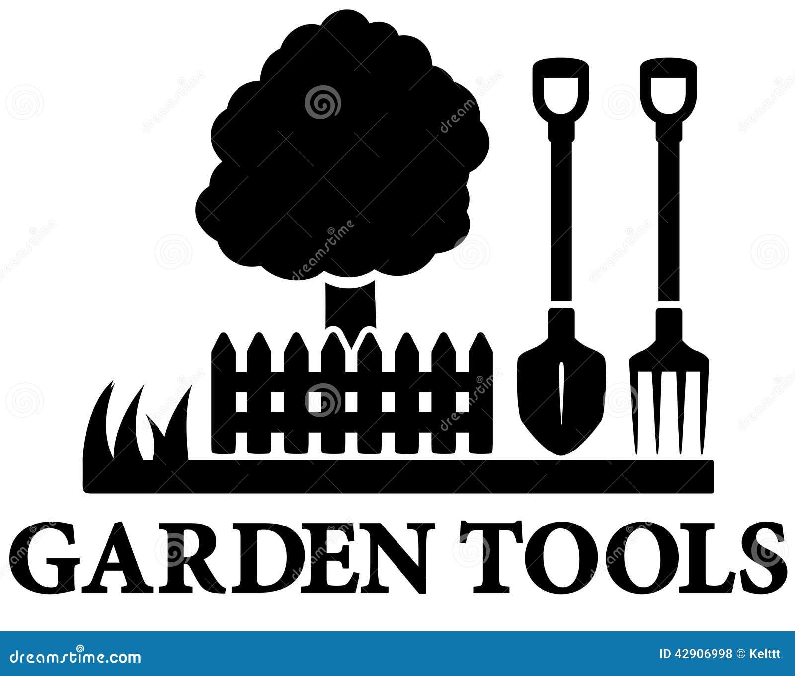 Schwarzer Garten Der Ikone Landschaftlich Gestaltet Vektor