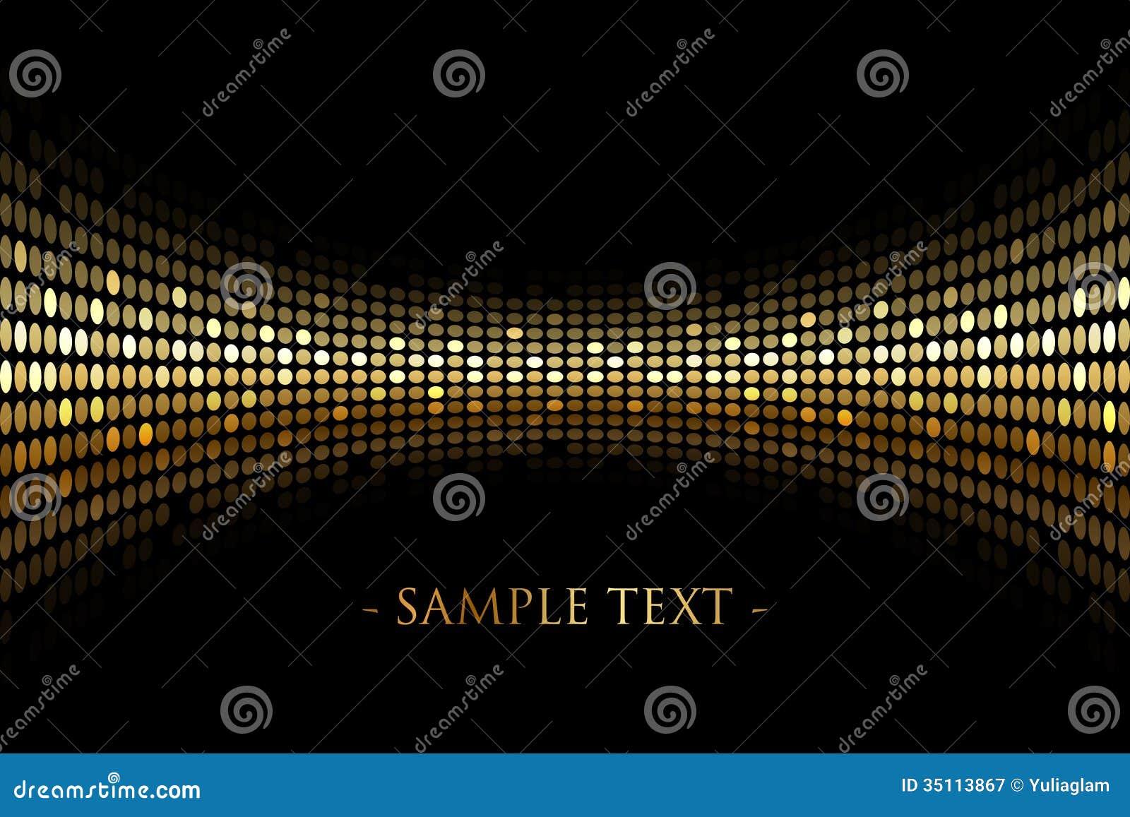 schwarzer hintergrund mit gold beleuchtet mit raum f r ihr tex vektor abbildung illustration. Black Bedroom Furniture Sets. Home Design Ideas