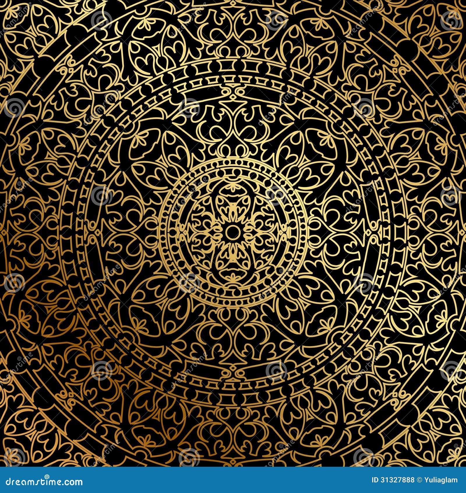 schwarzer hintergrund mit gold orientale verzierung lizenzfreie stockfotos bild 31327888. Black Bedroom Furniture Sets. Home Design Ideas