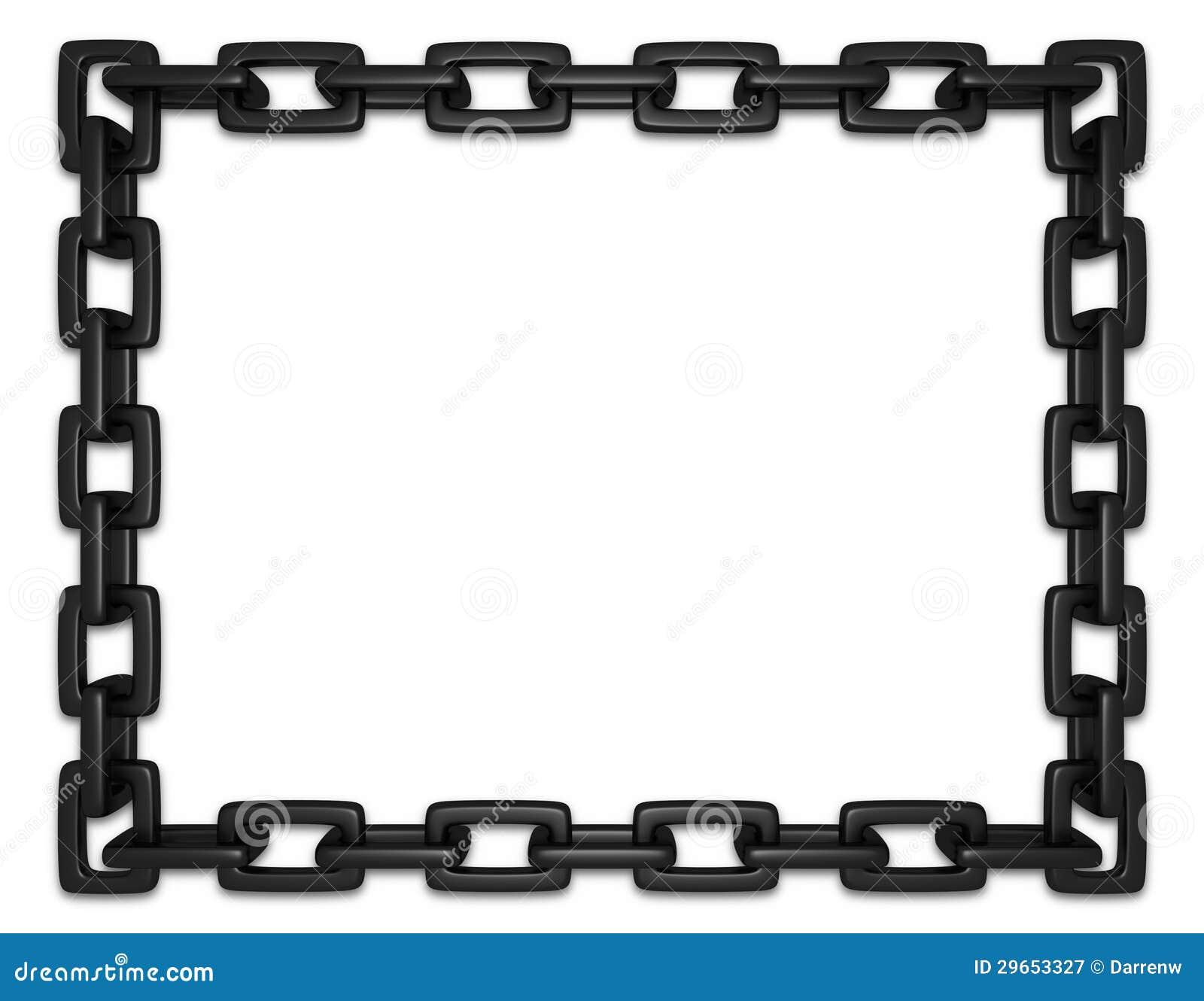 Schwarzer Kettenrahmen stock abbildung. Illustration von tether ...
