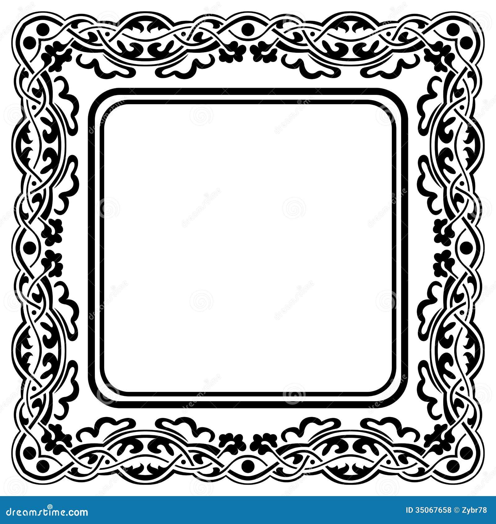 schwarzer rahmen vektor abbildung bild von muster aufwendig 35067658. Black Bedroom Furniture Sets. Home Design Ideas