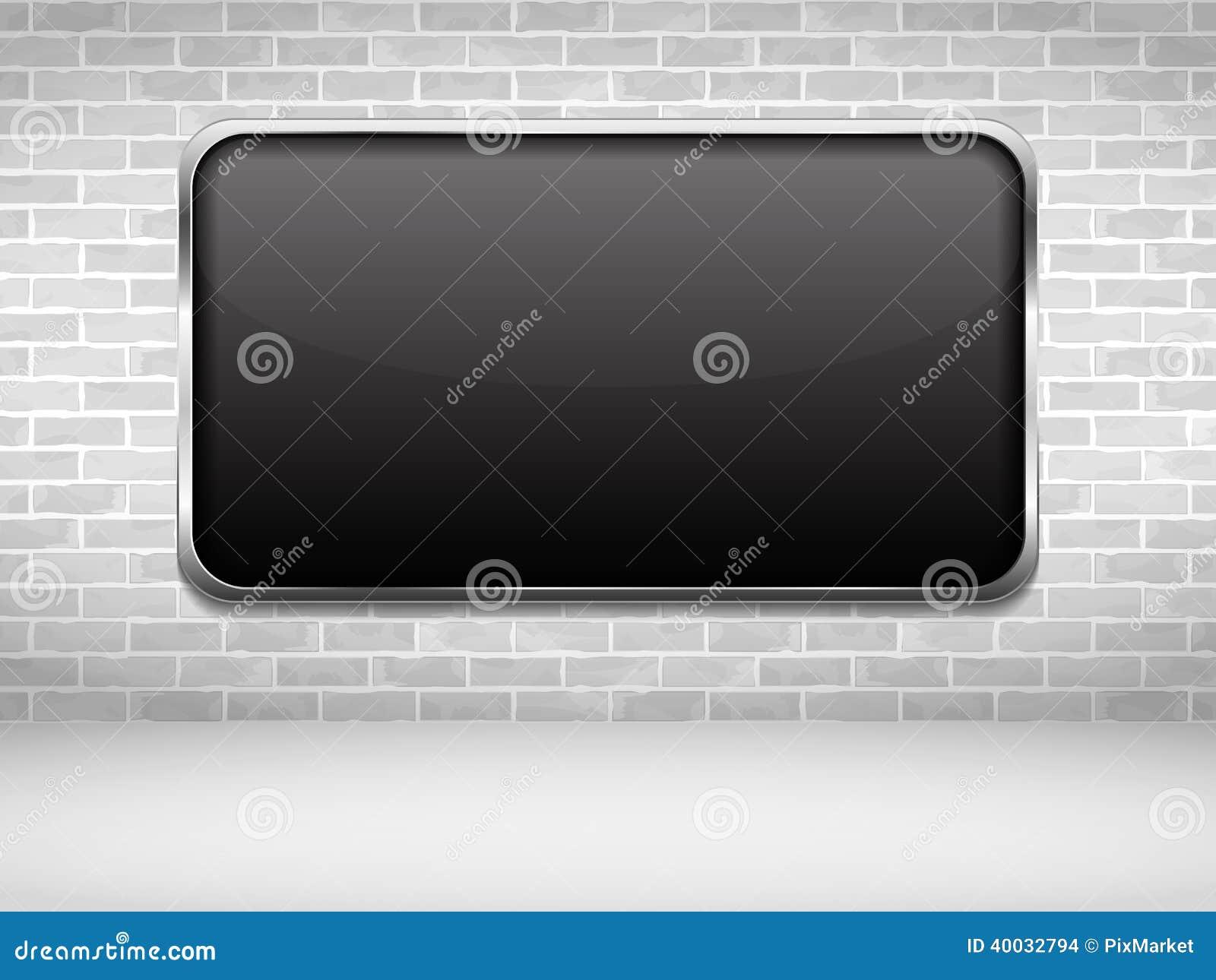 schwarzer rahmen auf backsteinmauer vektor abbildung bild 40032794. Black Bedroom Furniture Sets. Home Design Ideas