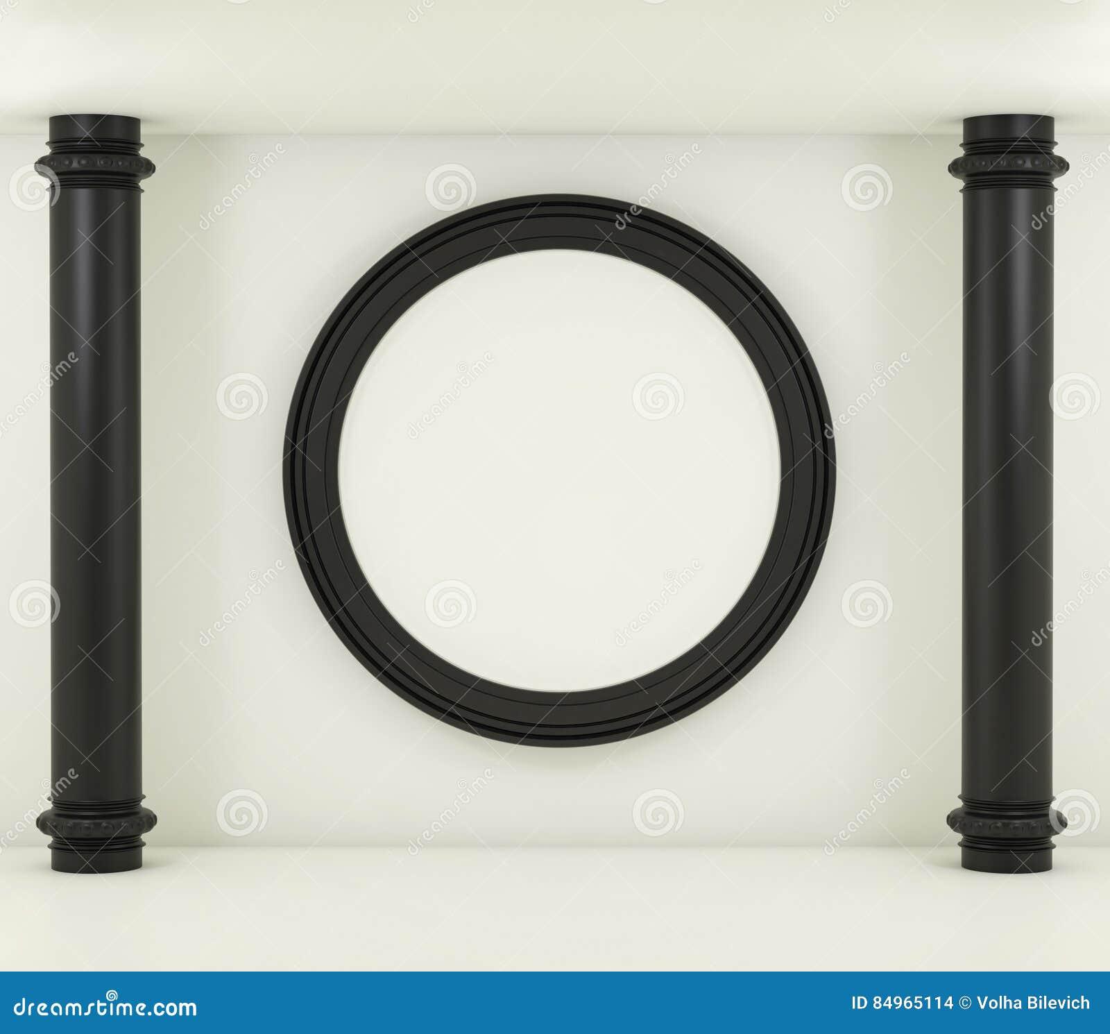 Schwarzer Rahmen Auf Einem Weißen Hintergrund Modell 3d übertragen ...