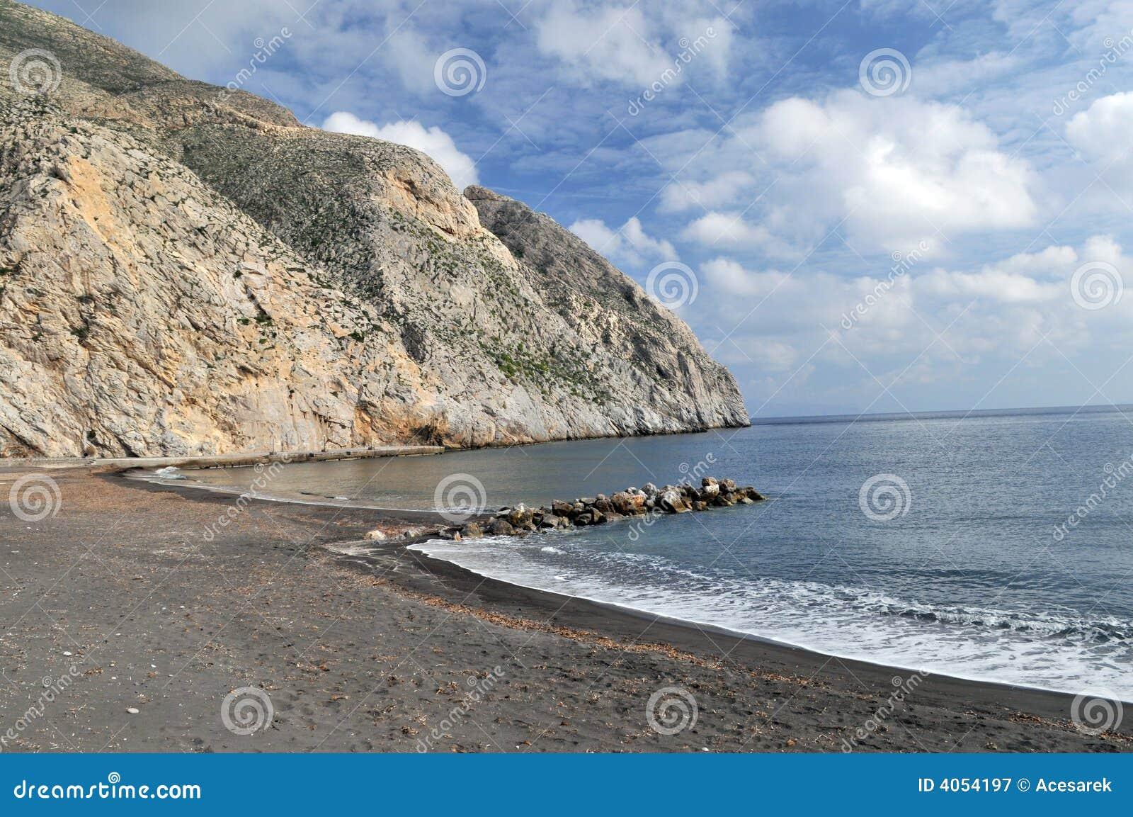 Nackte Strände in Mykonos Santorini Griechenland