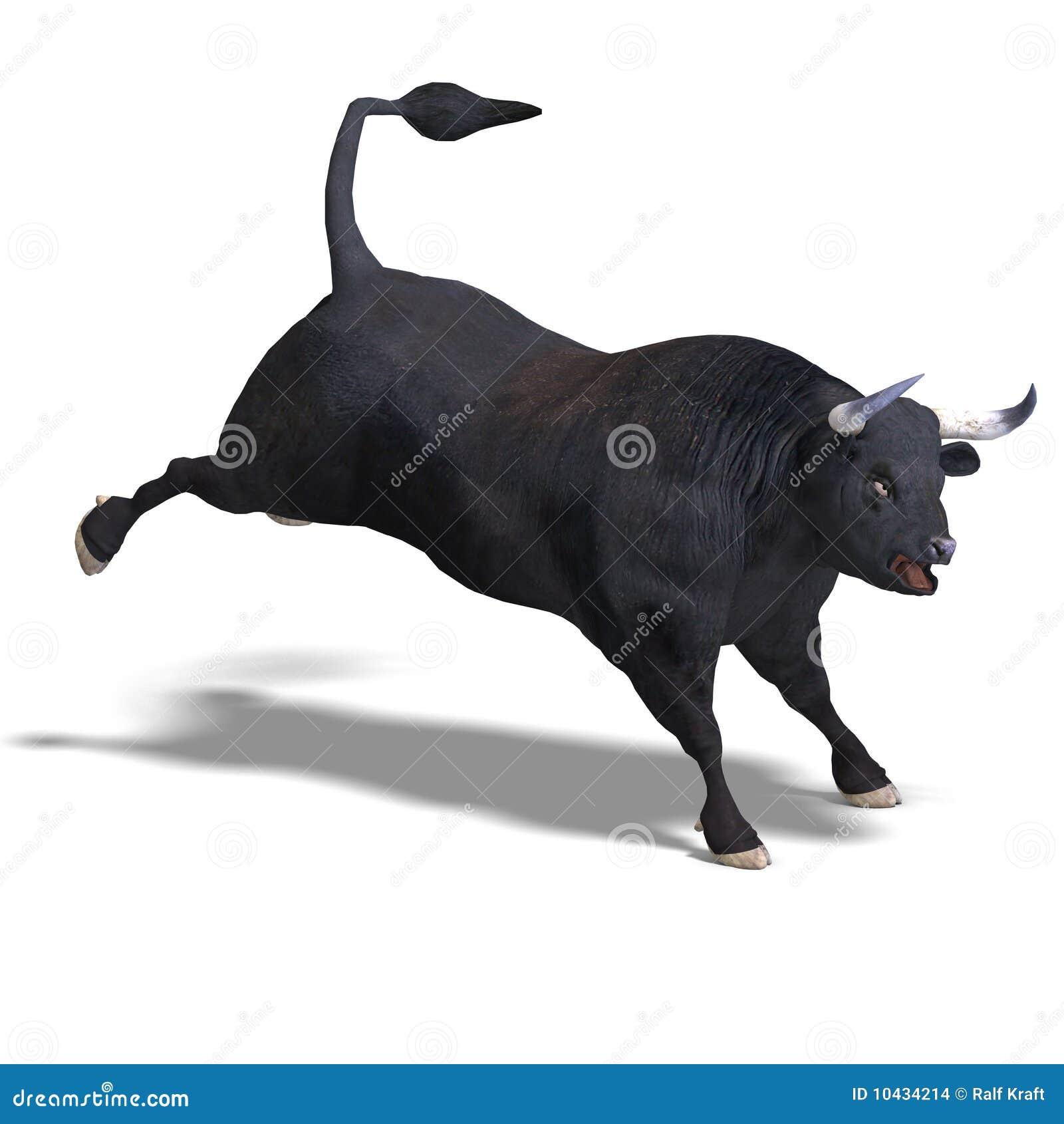 Gut Bestückter Schwarzer Stier Liefert Ab