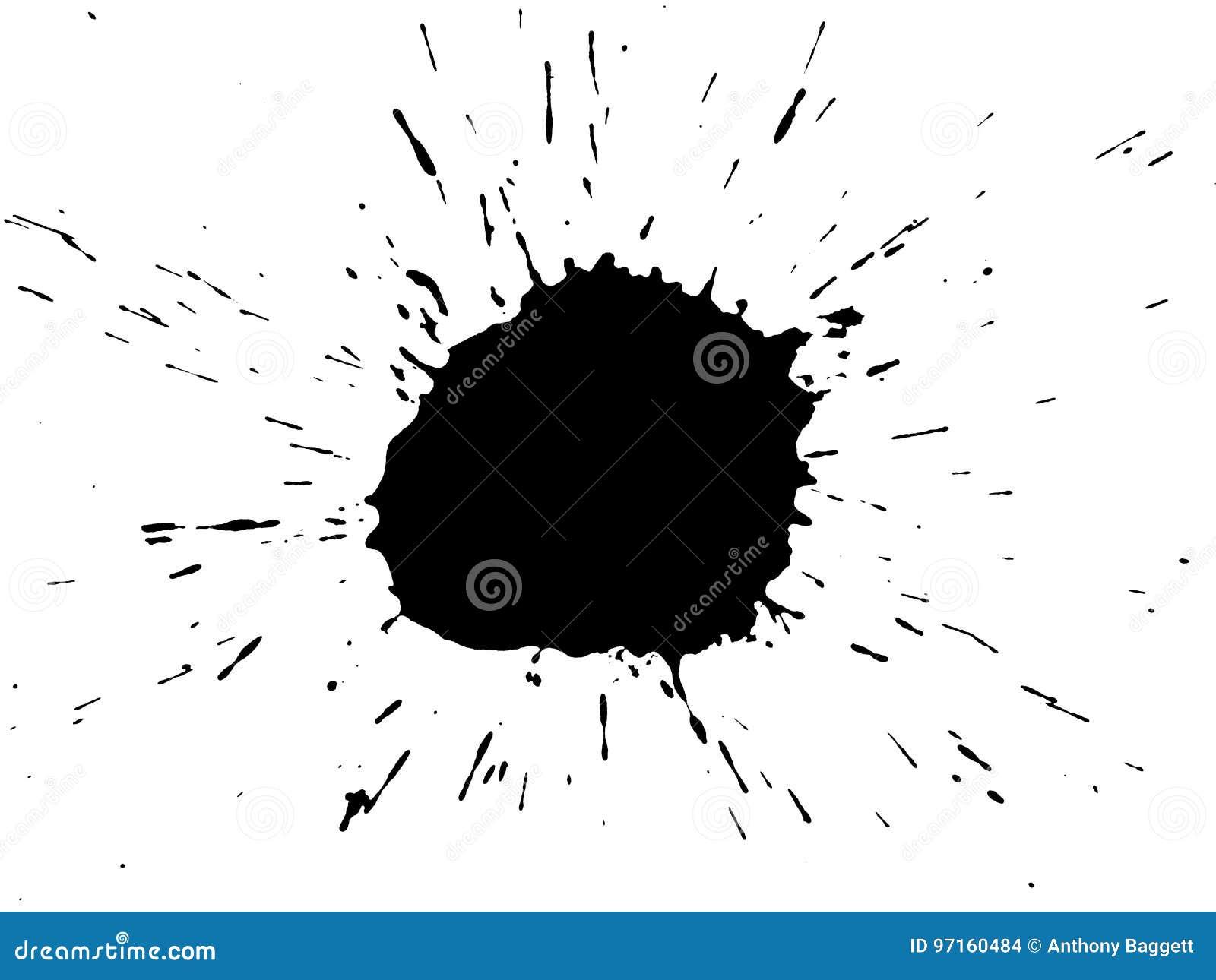 Schwarzer Tinte Splatter