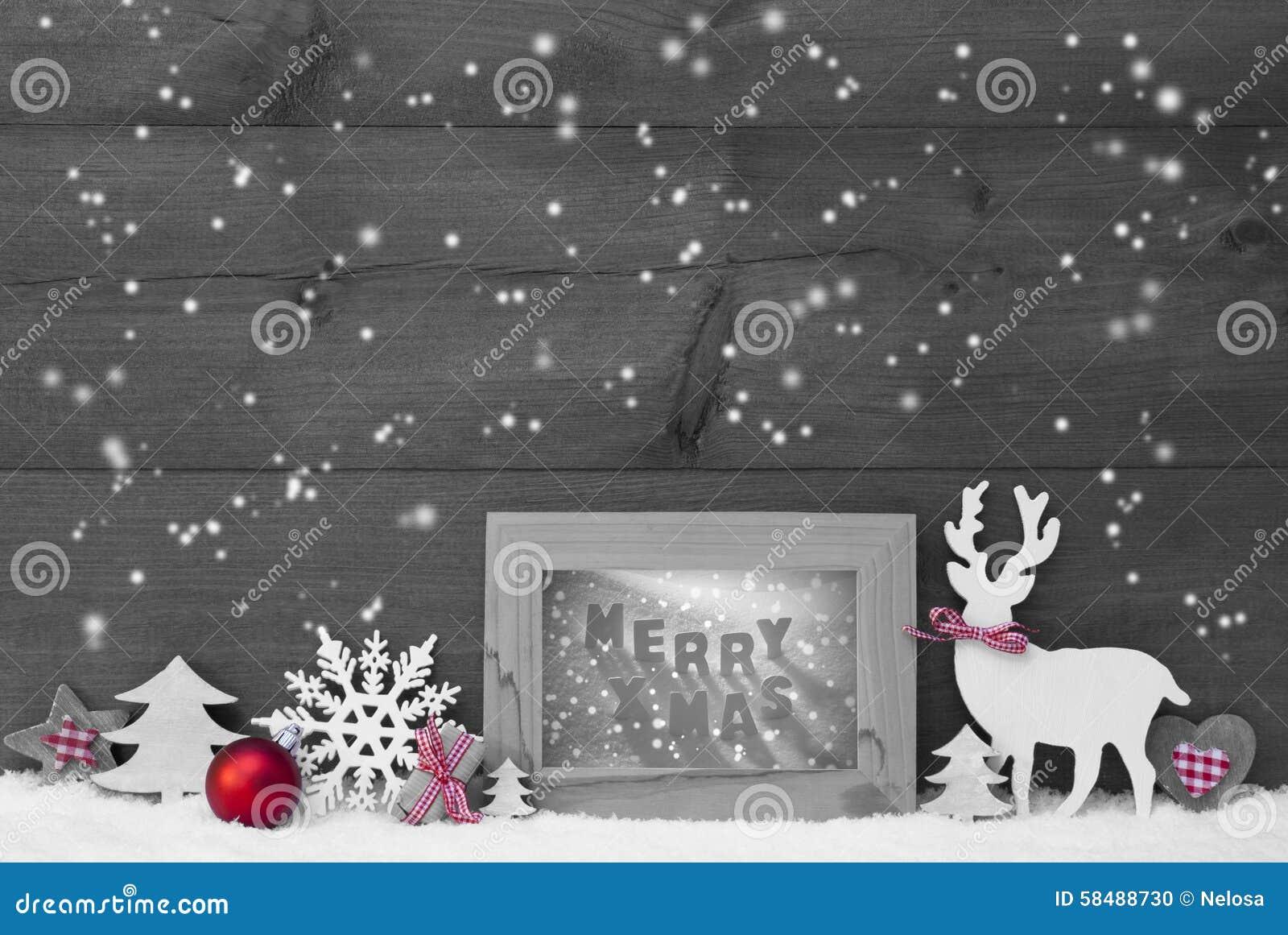 Schwarzer Weißer Roter Weihnachtshintergrund-Schneeflocken-Rahmen ...