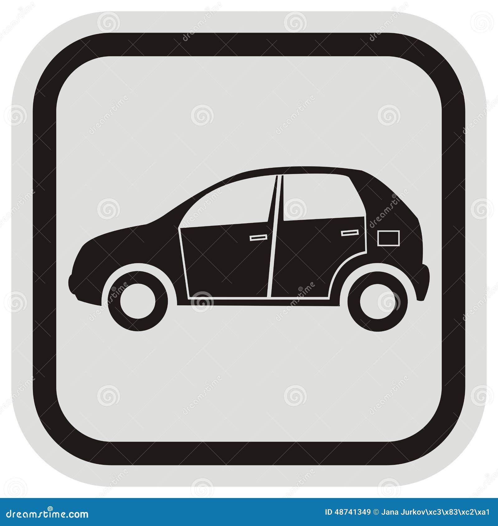 Schwarzes Auto, Rahmen vektor abbildung. Illustration von cabriolet ...