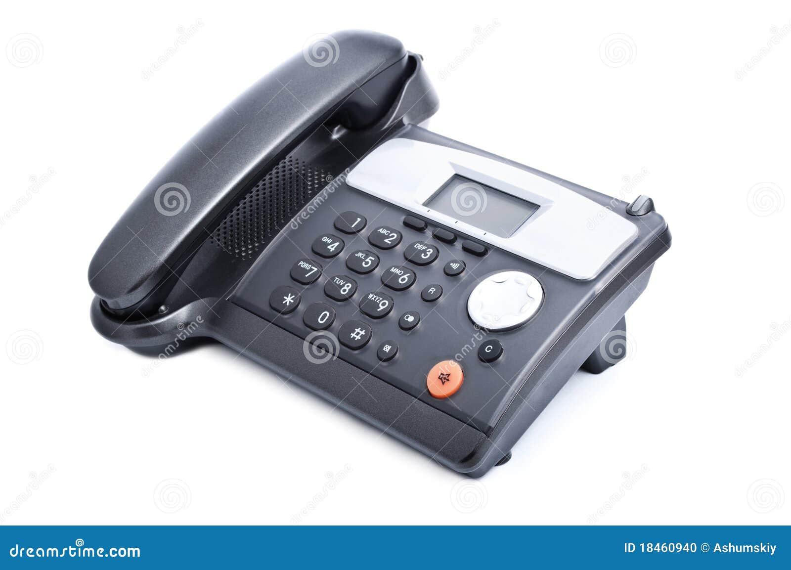 Schwarzes Bürotelefon