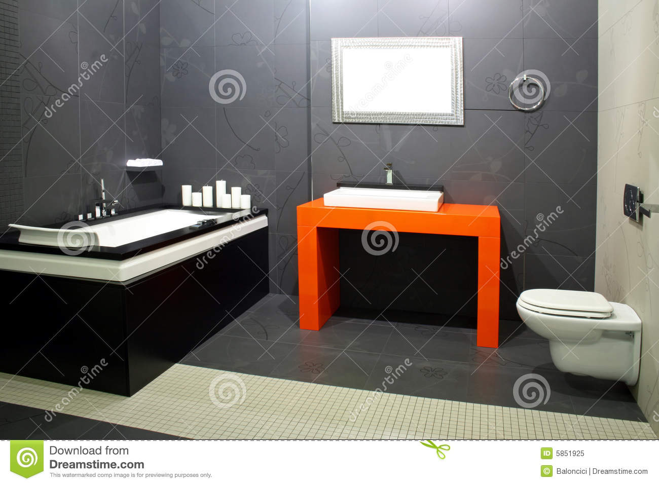 schwarzes badezimmer 2 stockbild bild von restroom. Black Bedroom Furniture Sets. Home Design Ideas