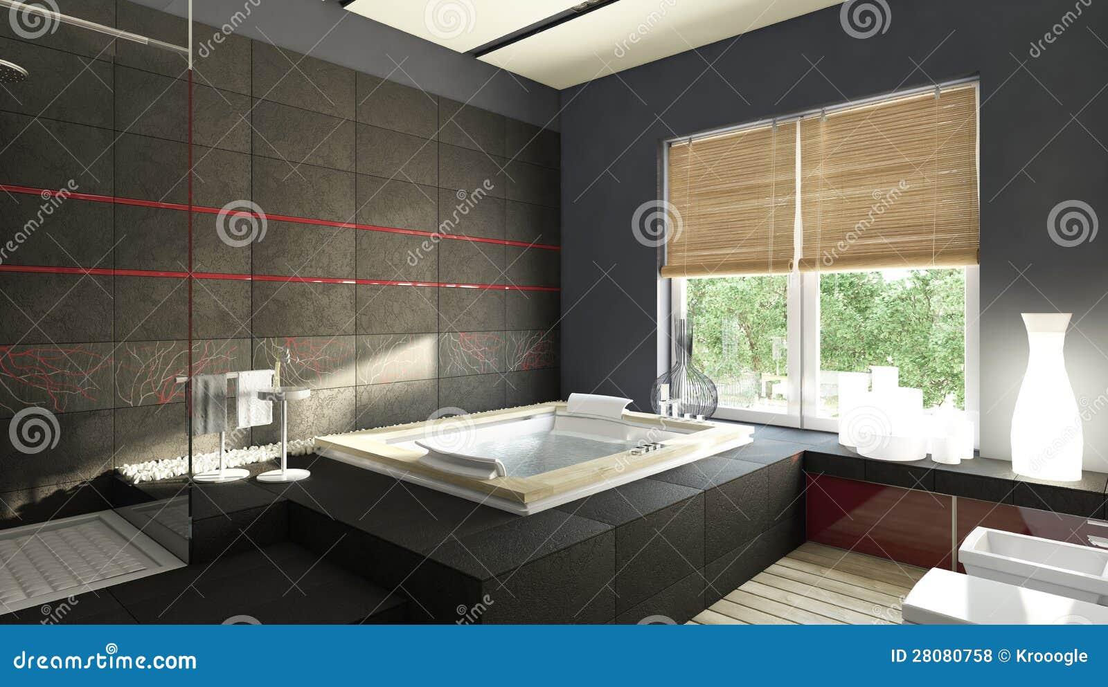 Schwarzes Badezimmer Stock Abbildung Illustration Von Kuche 28080758