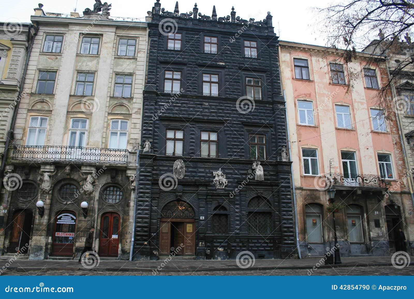 Schwarzes Haus schwarzes haus lemberg redaktionelles bild bild klamotten