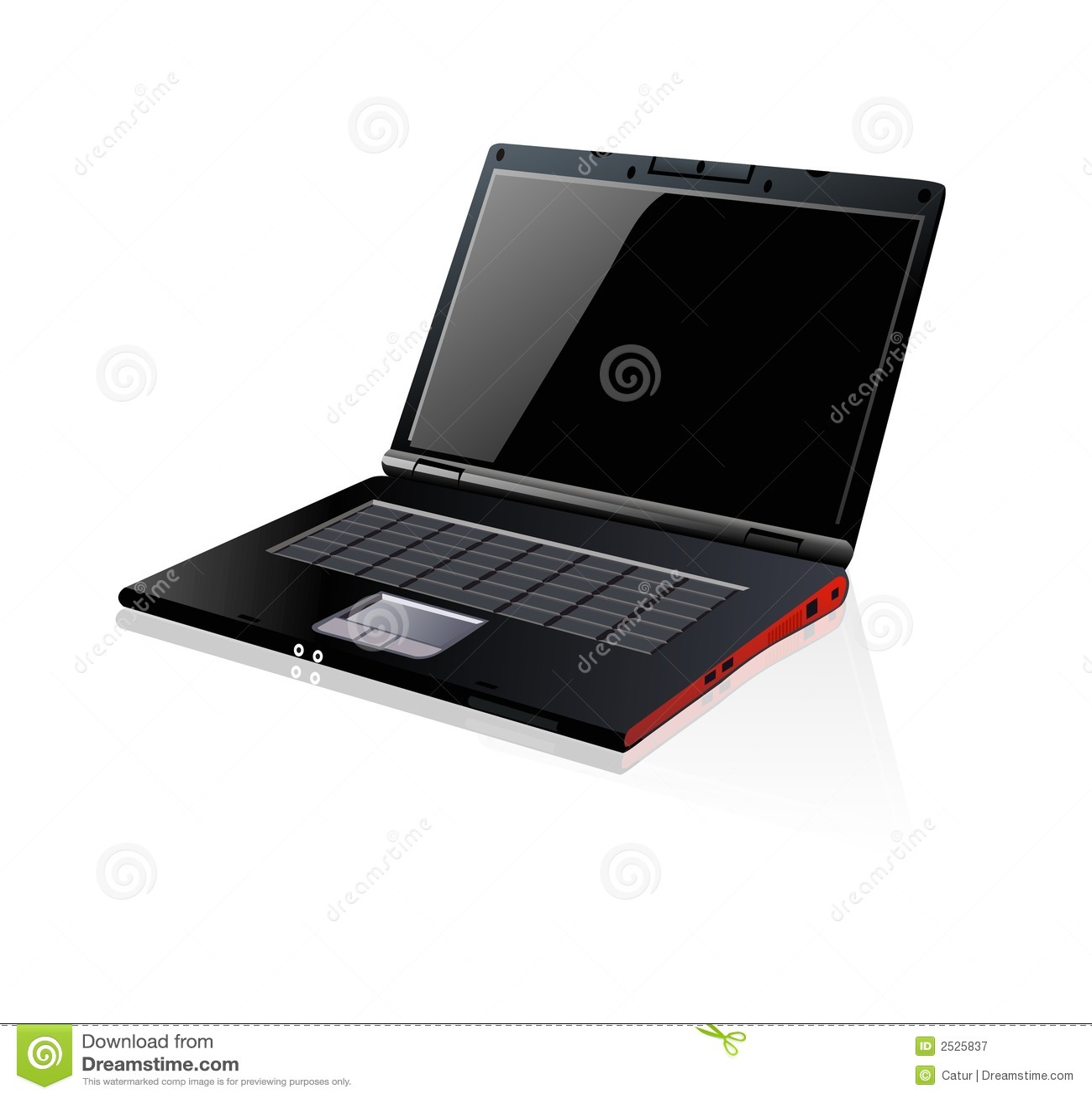 Schwarzes Laptopnotizbuch