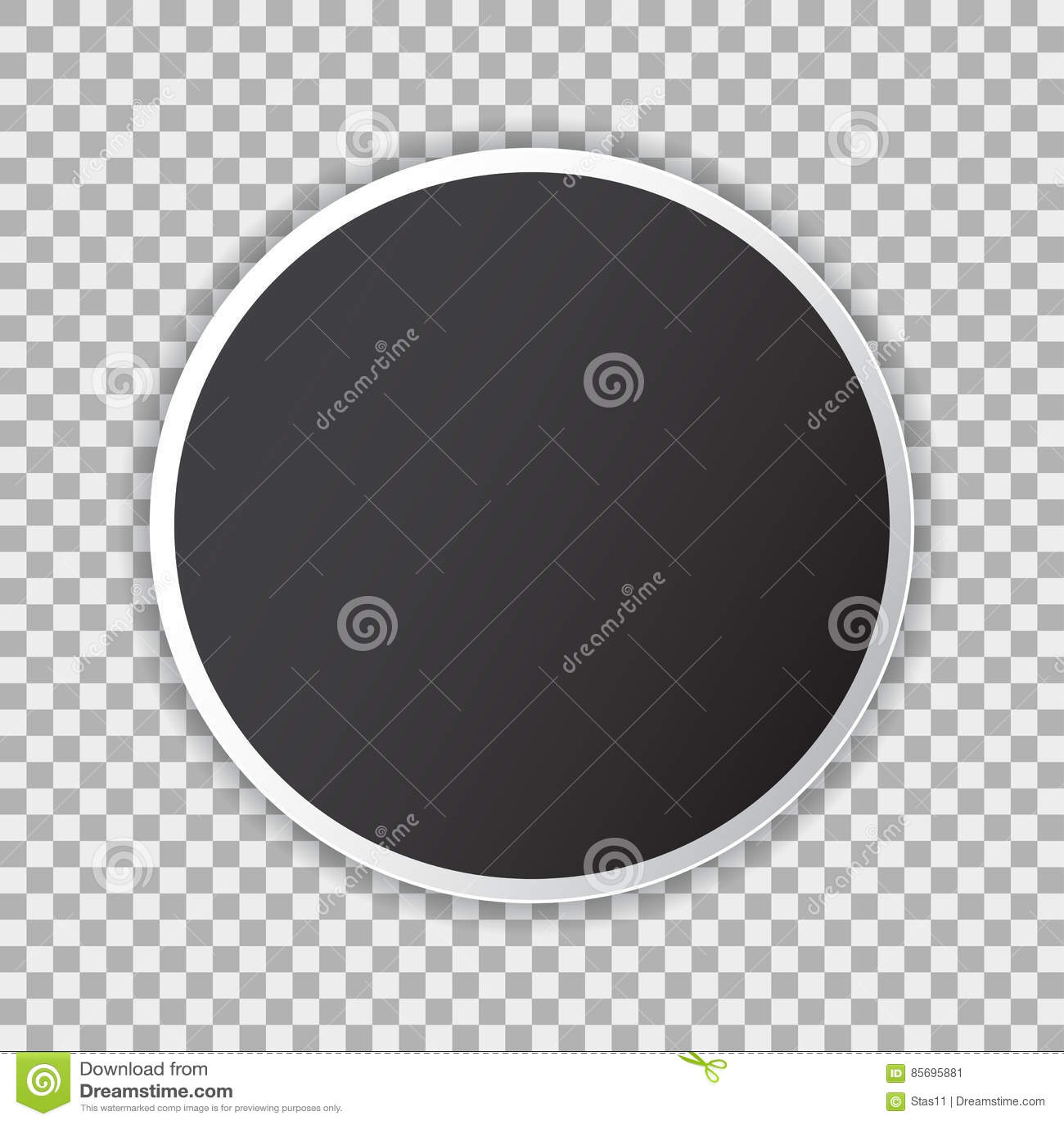 Schwarzes Leeres Plakatmodell Im Kreis, Blatt Papier Auf ...