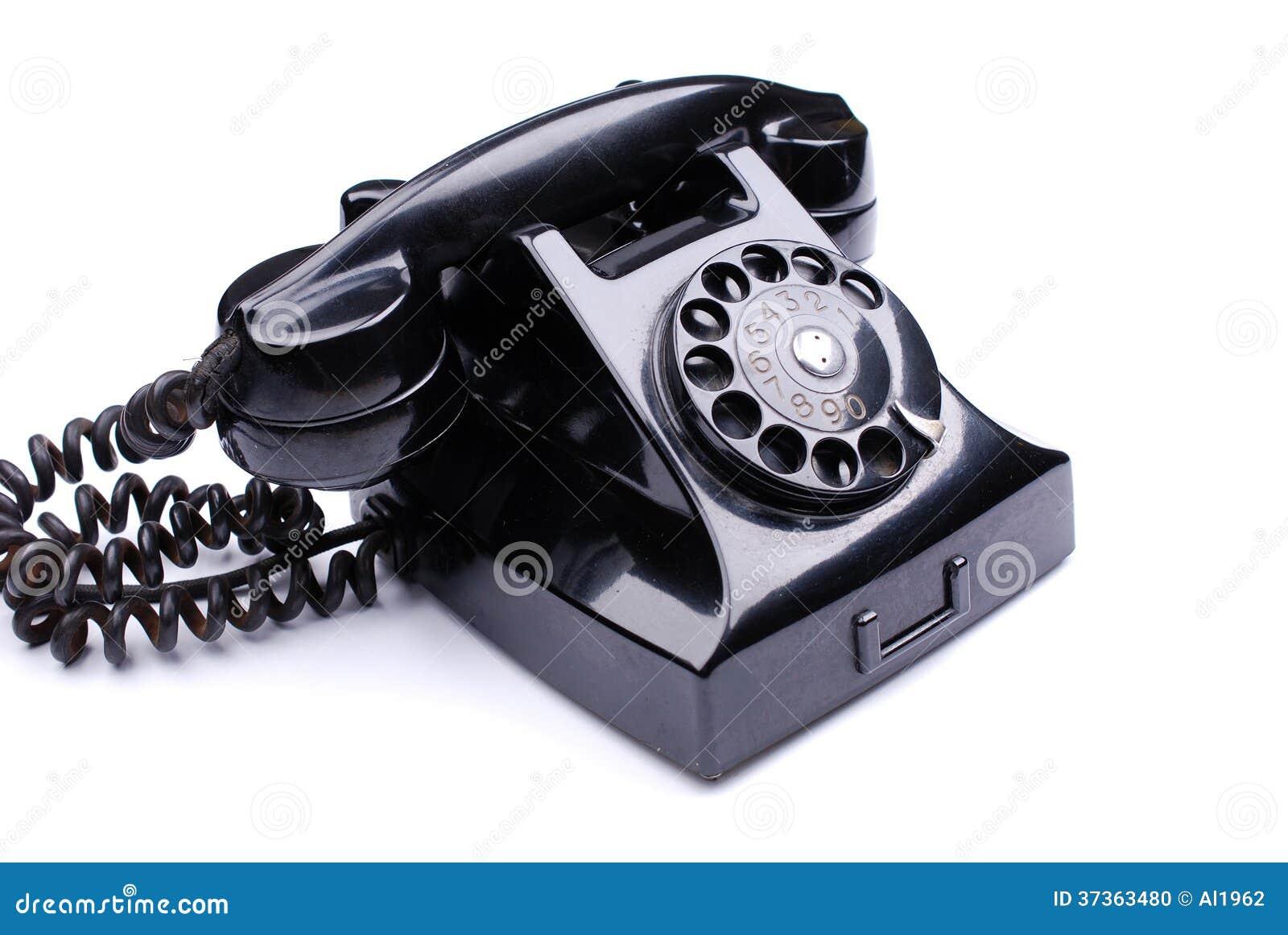 Schwarzes Retro- Telefon