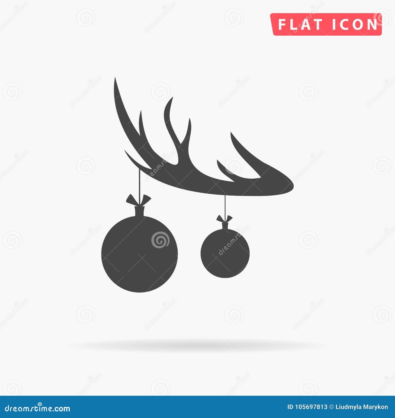 Schwarzes Schattenbild Des Rotwildhorns Mit Den Geweihen Und Mit ...
