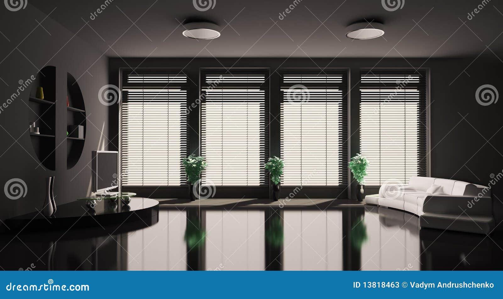 Wohnzimmer Schwarzes Sofa – MiDiR