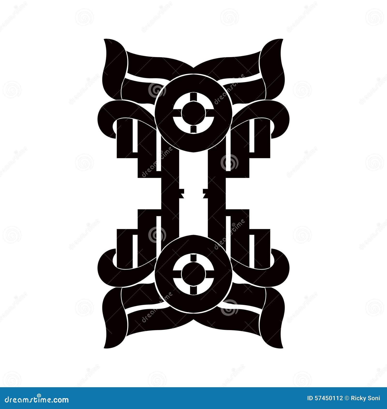 Schwarzweiss-Element