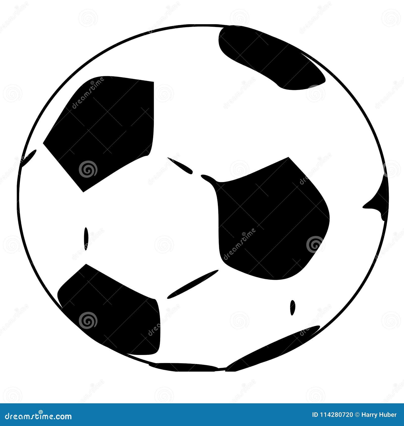 Schwarzweiss Fussballkugel Oder Fussball Stock Abbildung