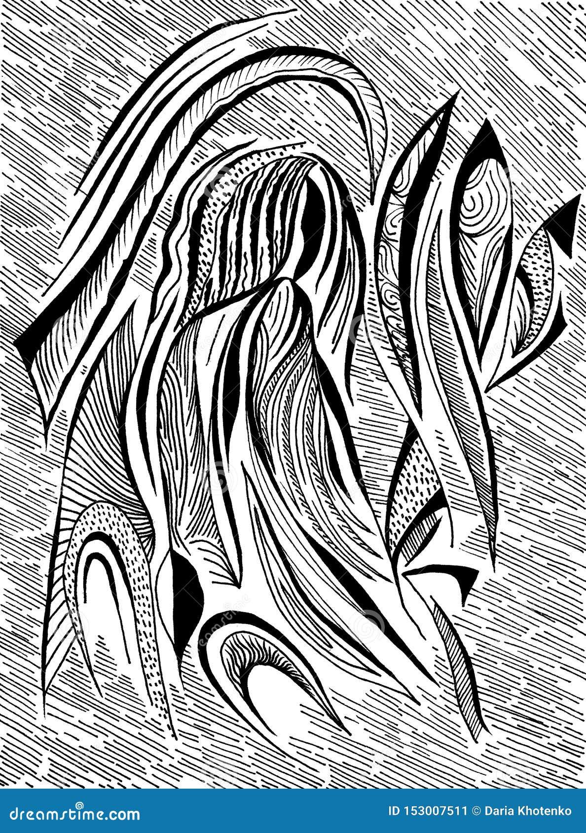 Schwarzweiss-Porträt Absrtract