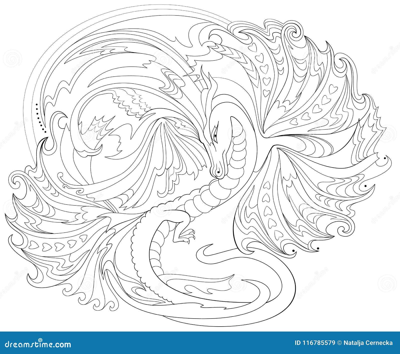Schwarzweiss-Seite Für Die Färbung Fantasiezeichnung Des Keltischen ...
