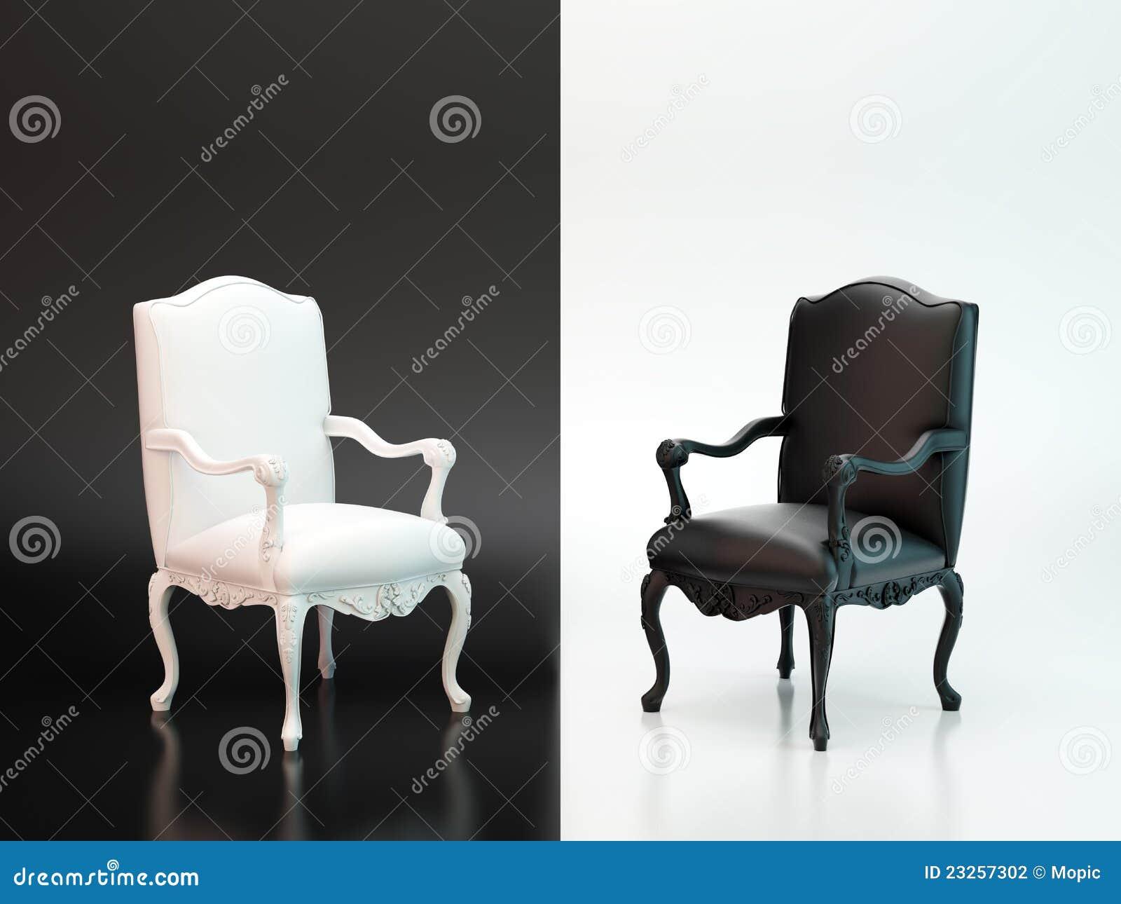 Schwarzweiss-Stühle stockfoto. Bild von grunge, zuhause - 23257302