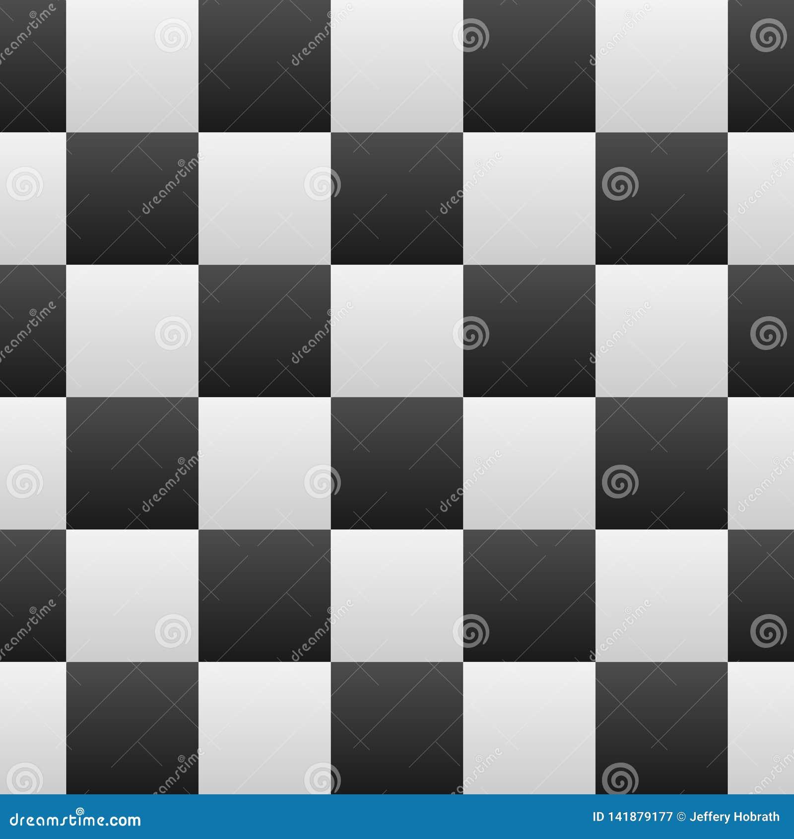 Schwarzweiss-Steigungs-karierte nahtlose wiederholende Muster-Hintergrund-Vektor-Illustration