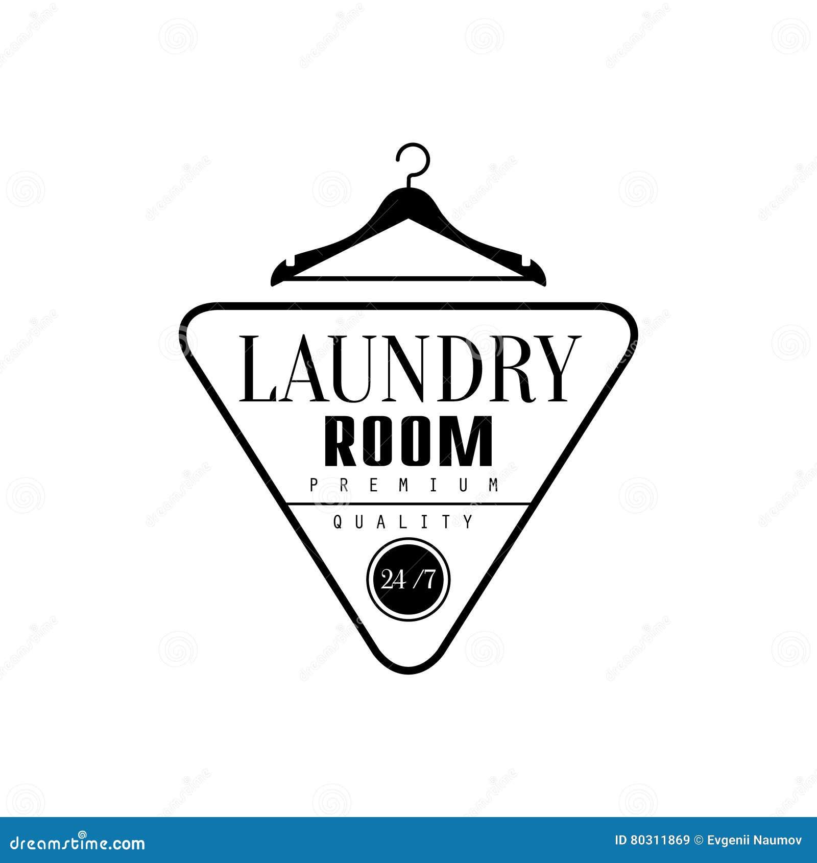 Schwarzweiss-Zeichen Für Den Wäscherei-und Trockenreinigungs-Service ...
