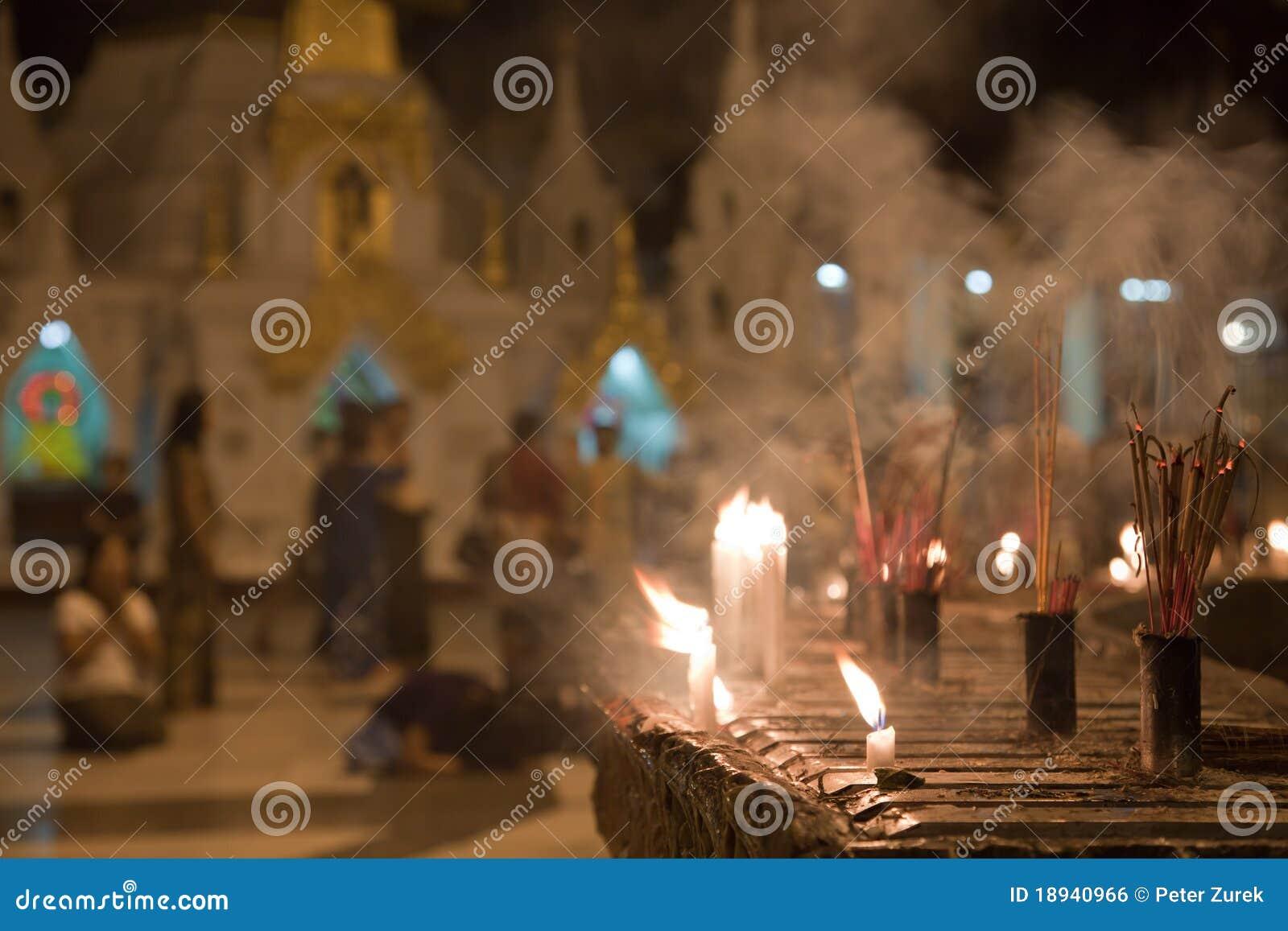 Schwedagon людей pagoda моля