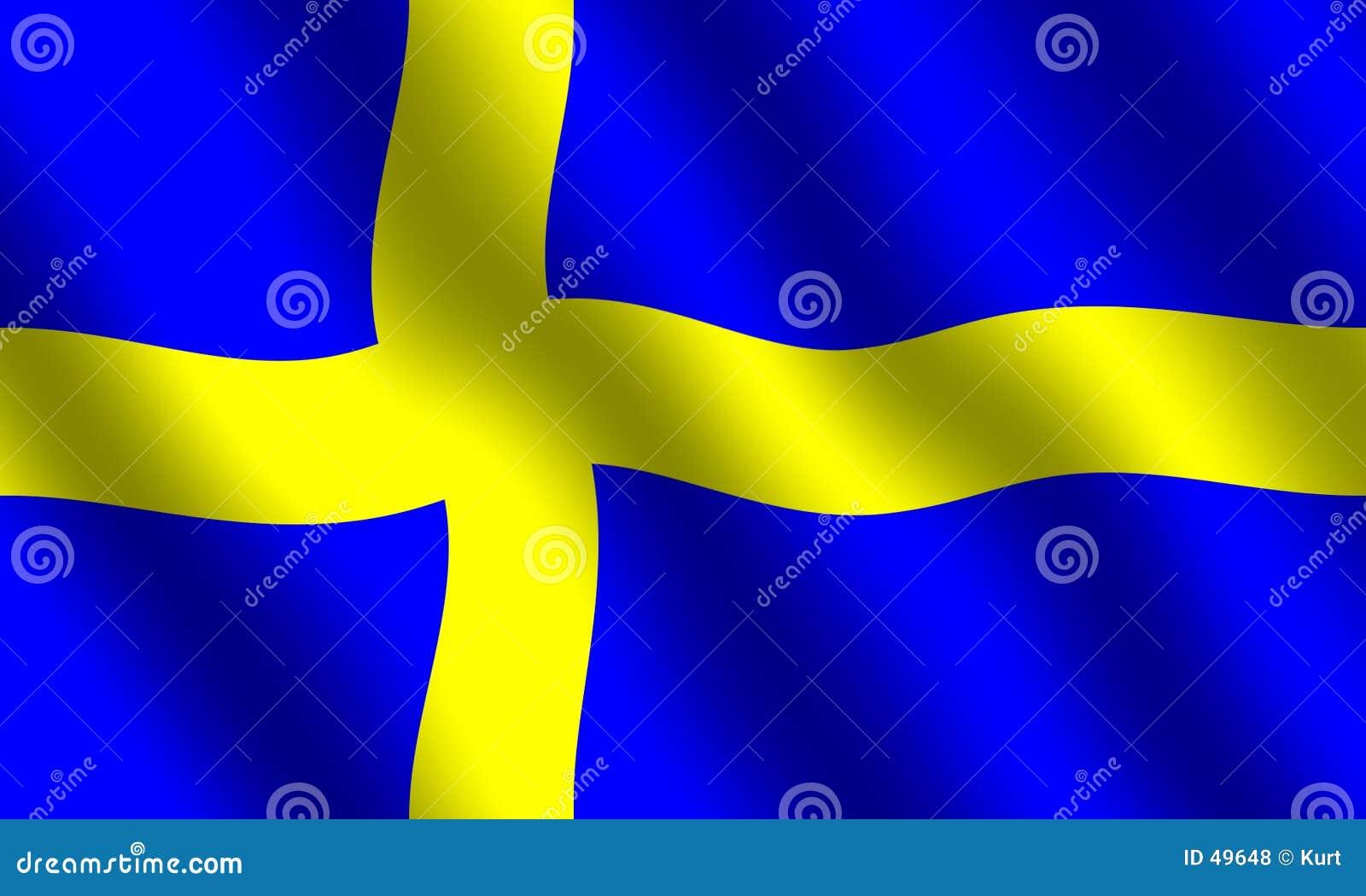 Schwedische Markierungsfahne