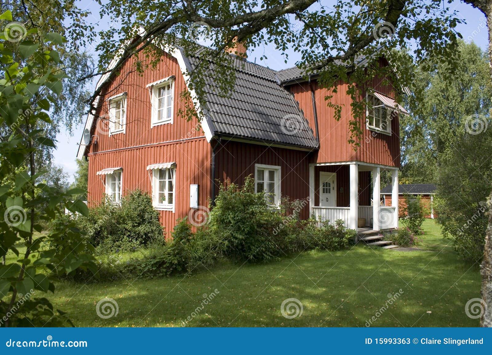 schwedisches haus stockbild. bild von haupt, schweden - 15993363