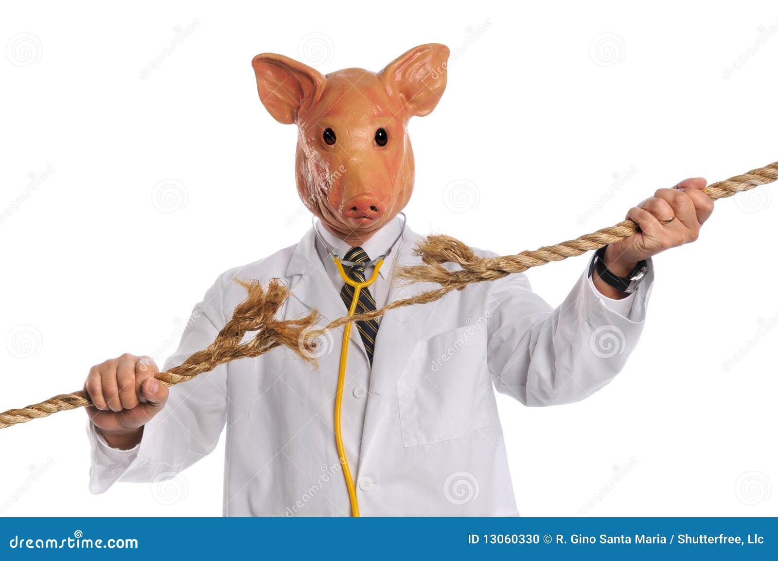Schwein Grippe Konzept Stockfoto Bild Von Global Druck