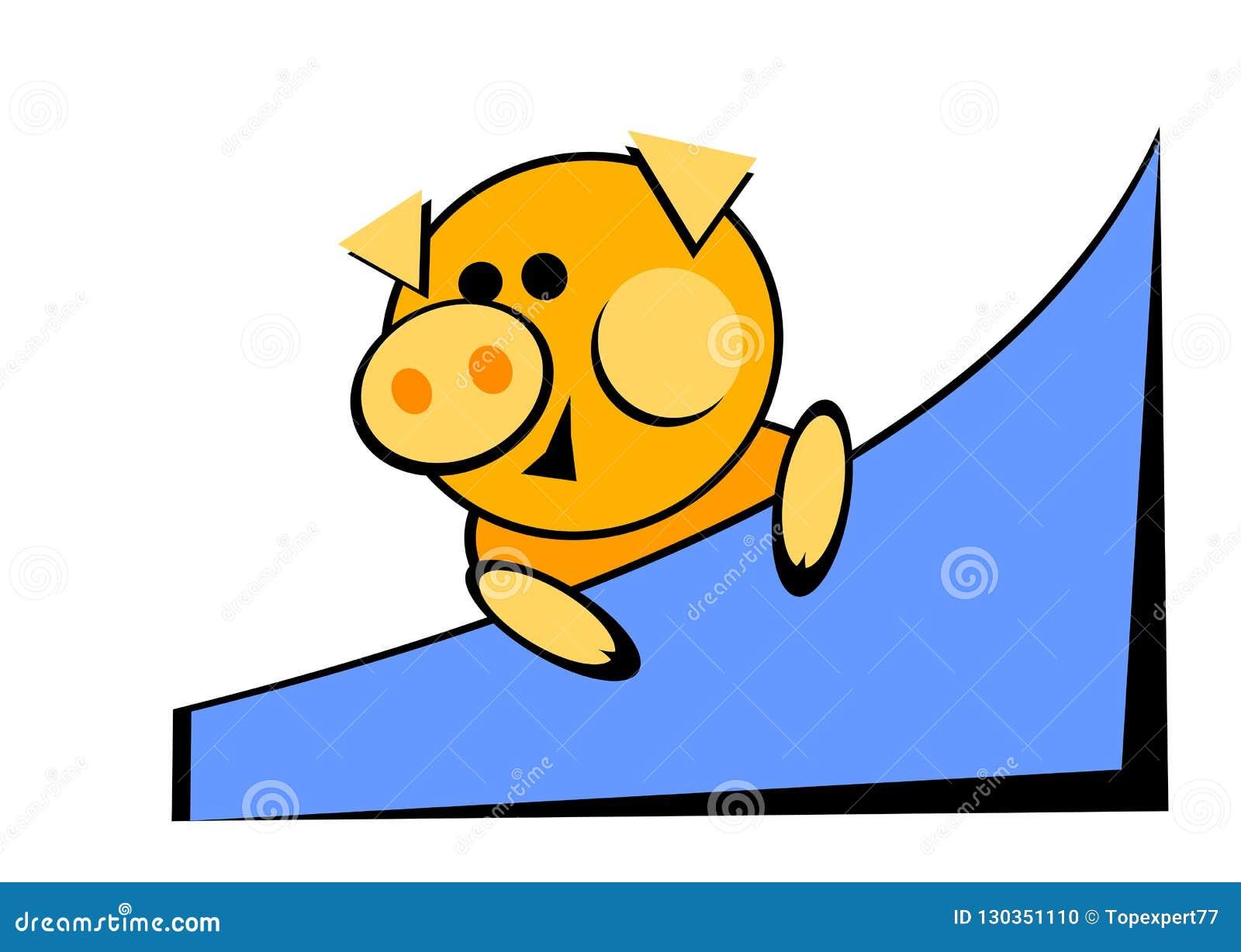 Gelbe Karte Lustig.Schwein Symbol 2019 2019 Neues Jahr Gelbes Gelbes Schwein